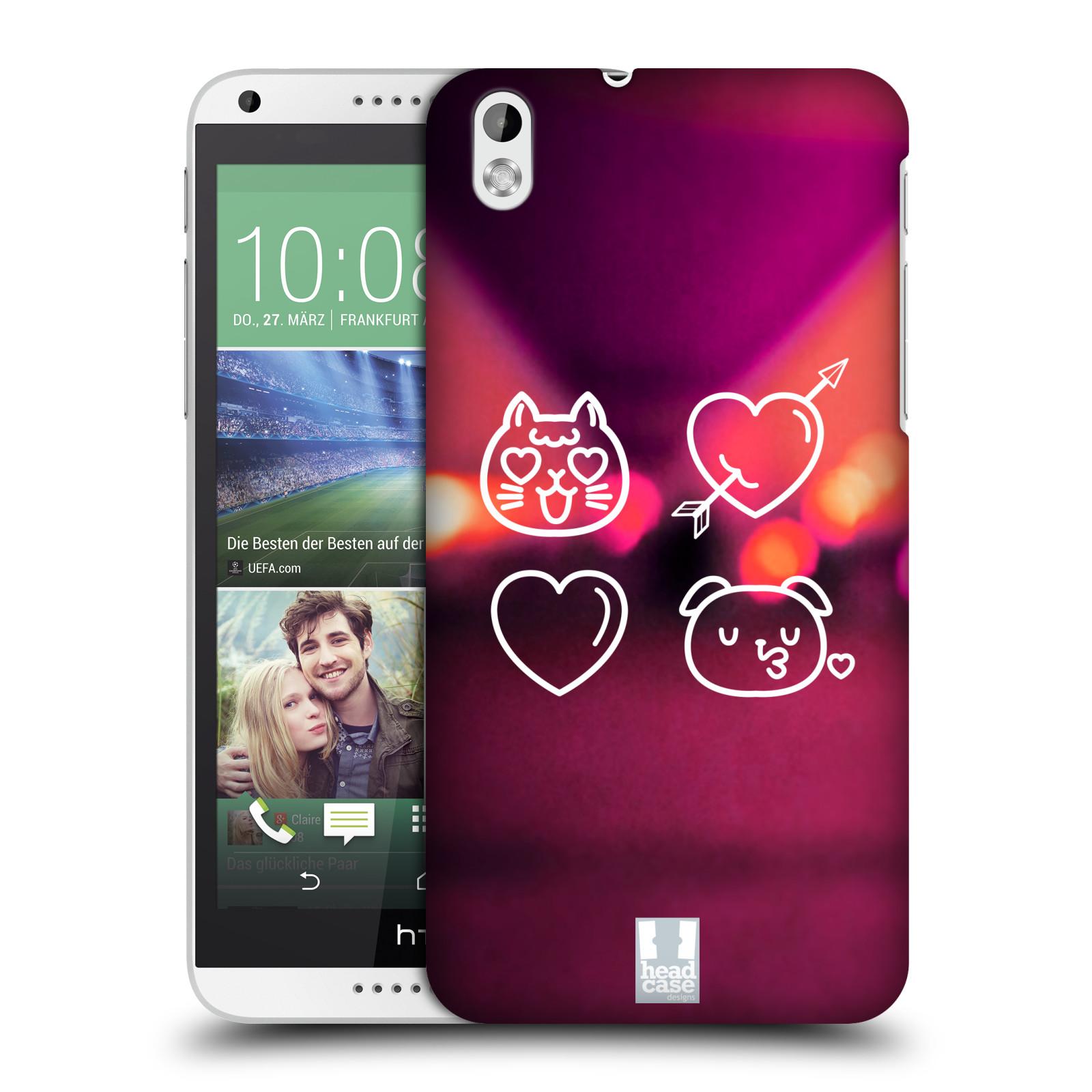 Plastové pouzdro na mobil HTC Desire 816 HEAD CASE EMOJI LAUGHING