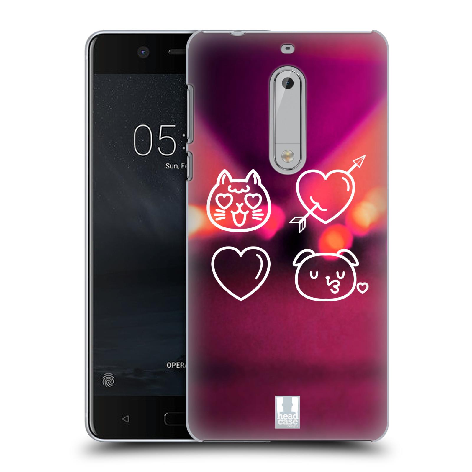 Plastové pouzdro na mobil Nokia 5 Head Case - EMOJI LAUGHING (Plastový kryt či obal na mobilní telefon Nokia 5 (2017))