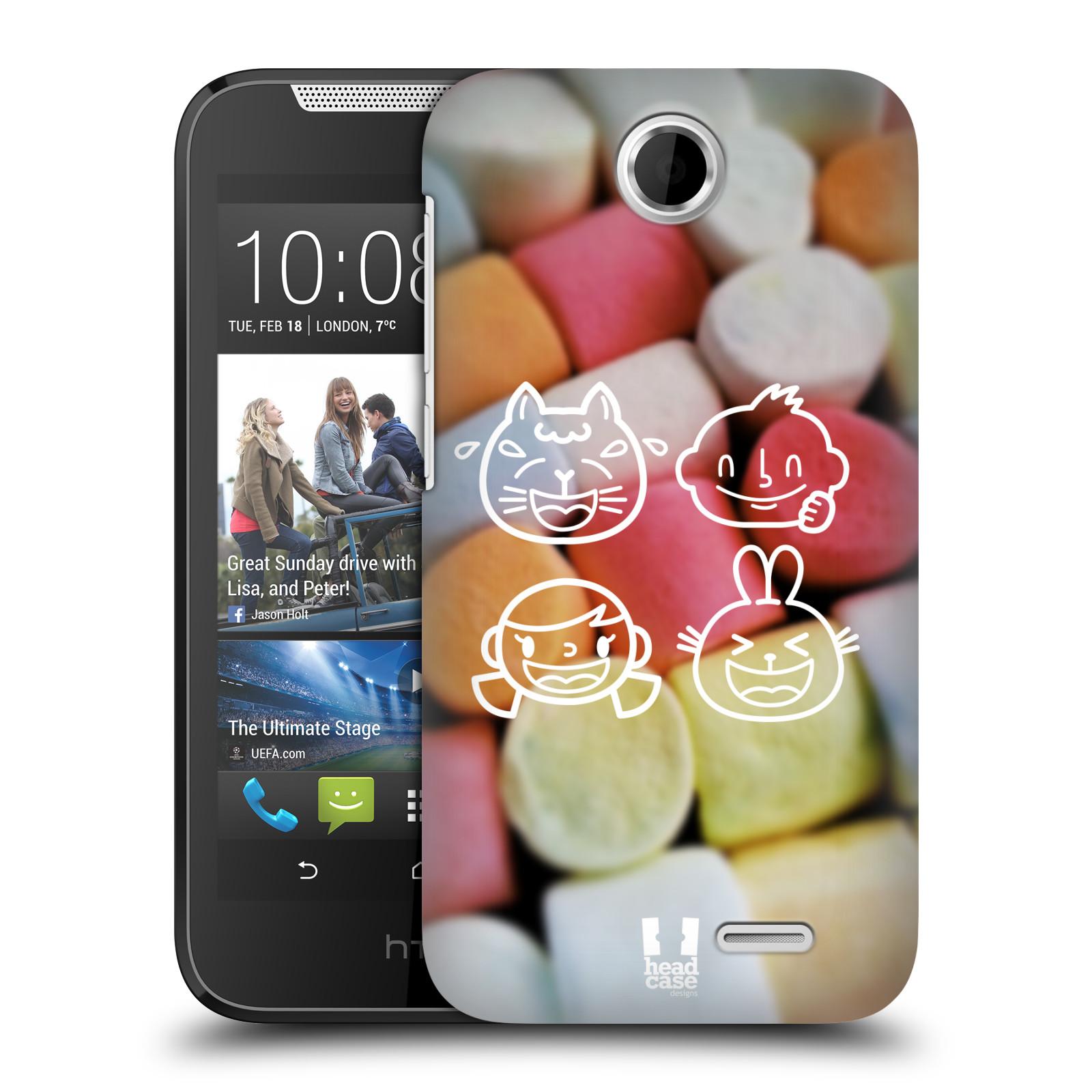 Plastové pouzdro na mobil HTC Desire 310 HEAD CASE EMOJI LOVE (Kryt či obal na mobilní telefon HTC Desire 310)