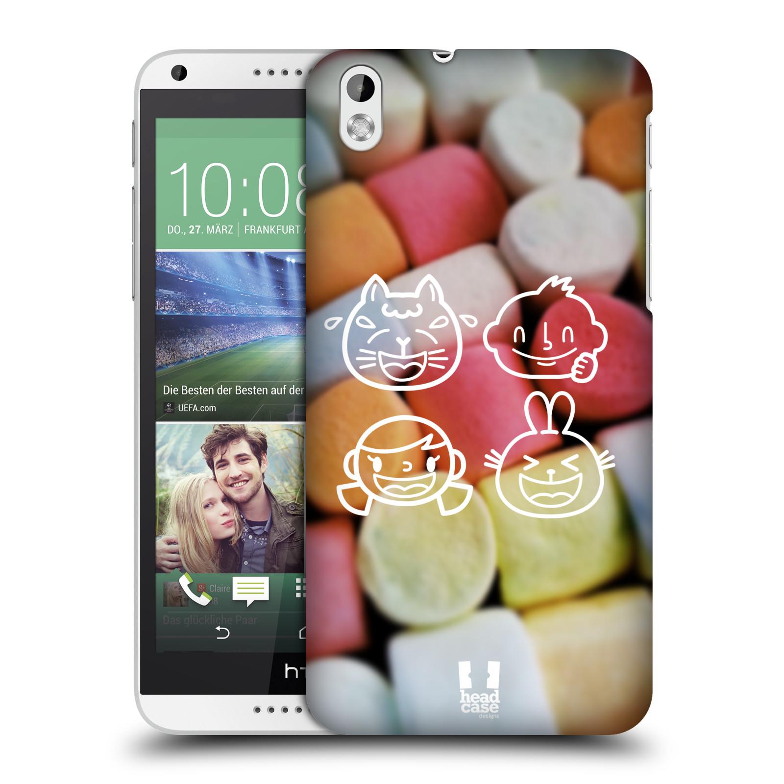 Plastové pouzdro na mobil HTC Desire 816 HEAD CASE EMOJI LOVE (Kryt či obal na mobilní telefon HTC Desire 816)