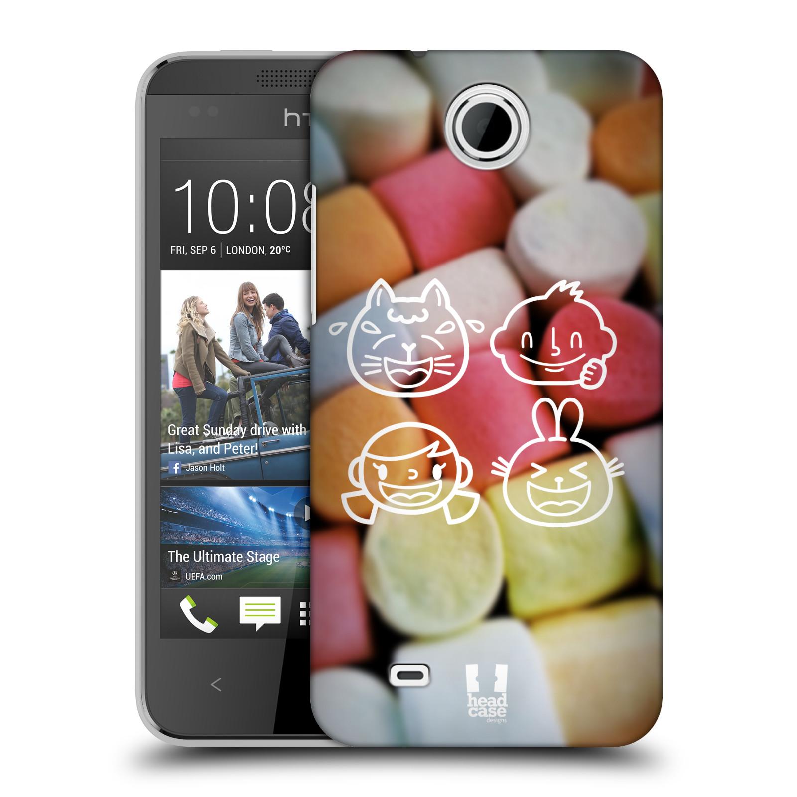 Plastové pouzdro na mobil HTC Desire 300 HEAD CASE EMOJI LOVE (Kryt či obal na mobilní telefon HTC Desire 300)