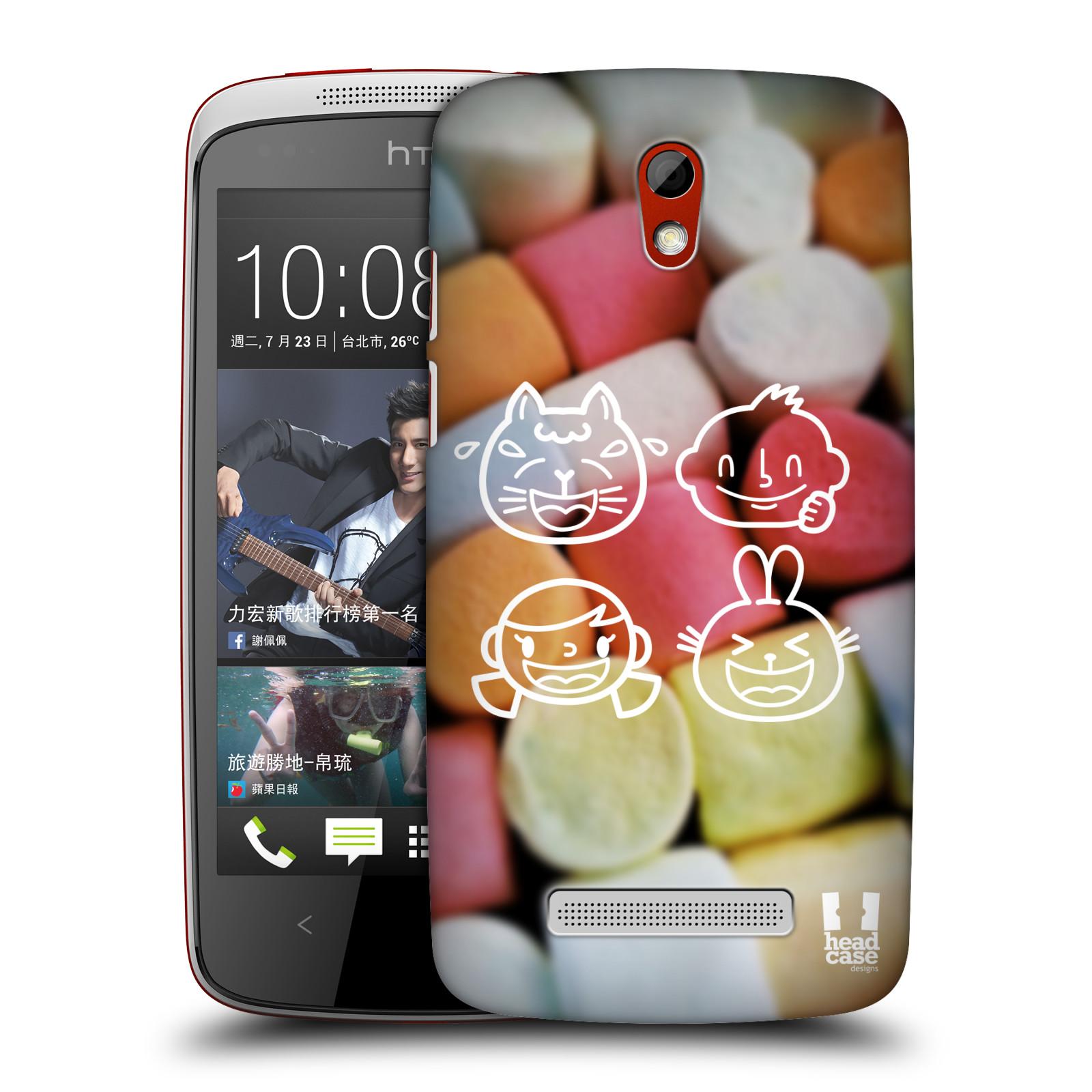 Plastové pouzdro na mobil HTC Desire 500 HEAD CASE EMOJI LOVE (Kryt či obal na mobilní telefon HTC Desire 500)