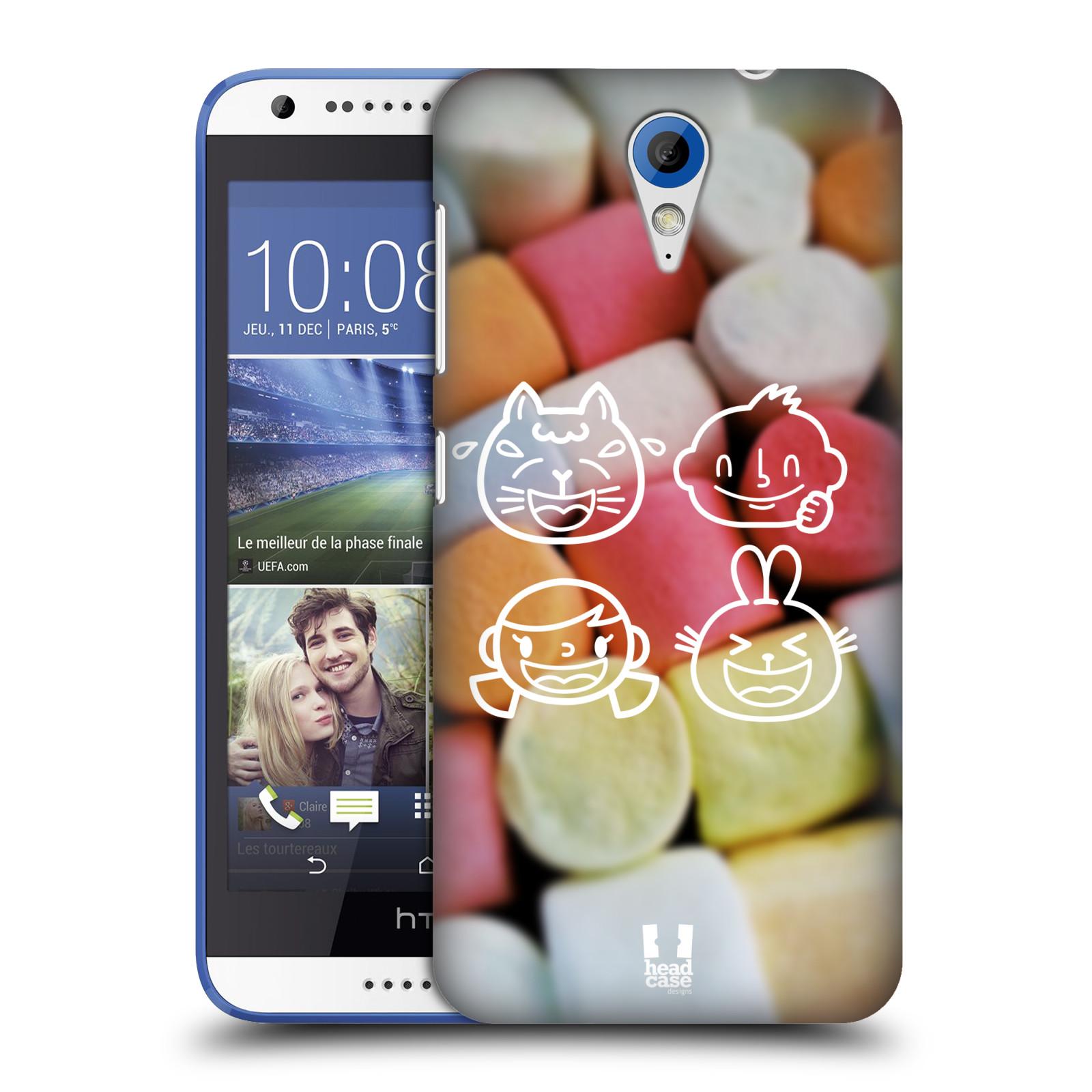Plastové pouzdro na mobil HTC Desire 620 HEAD CASE EMOJI LOVE (Kryt či obal na mobilní telefon HTC Desire 620)