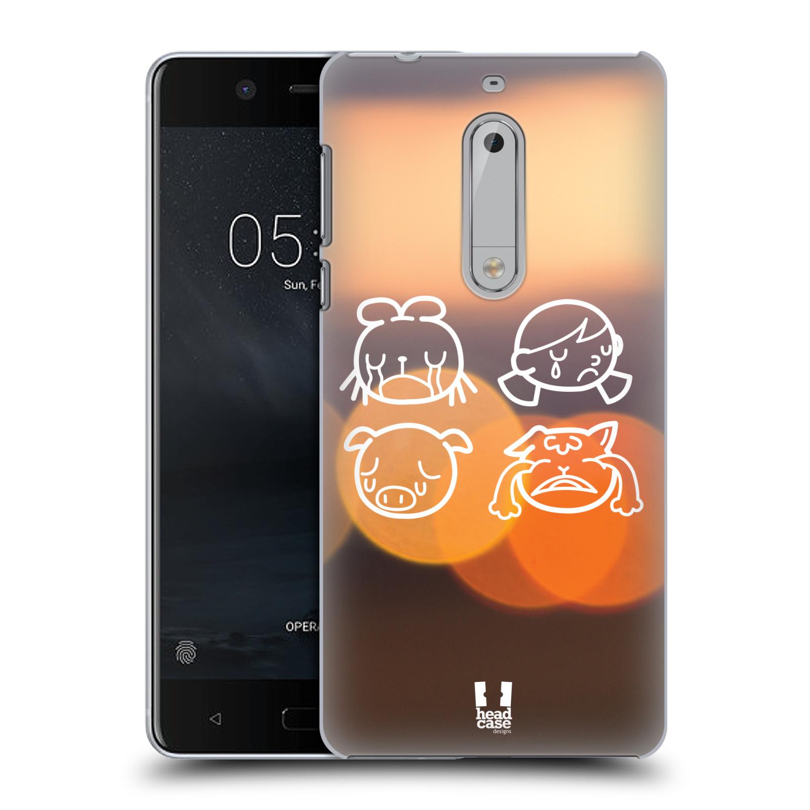 Plastové pouzdro na mobil Nokia 5 Head Case - EMOJI SAD (Plastový kryt či obal na mobilní telefon Nokia 5 (2017))