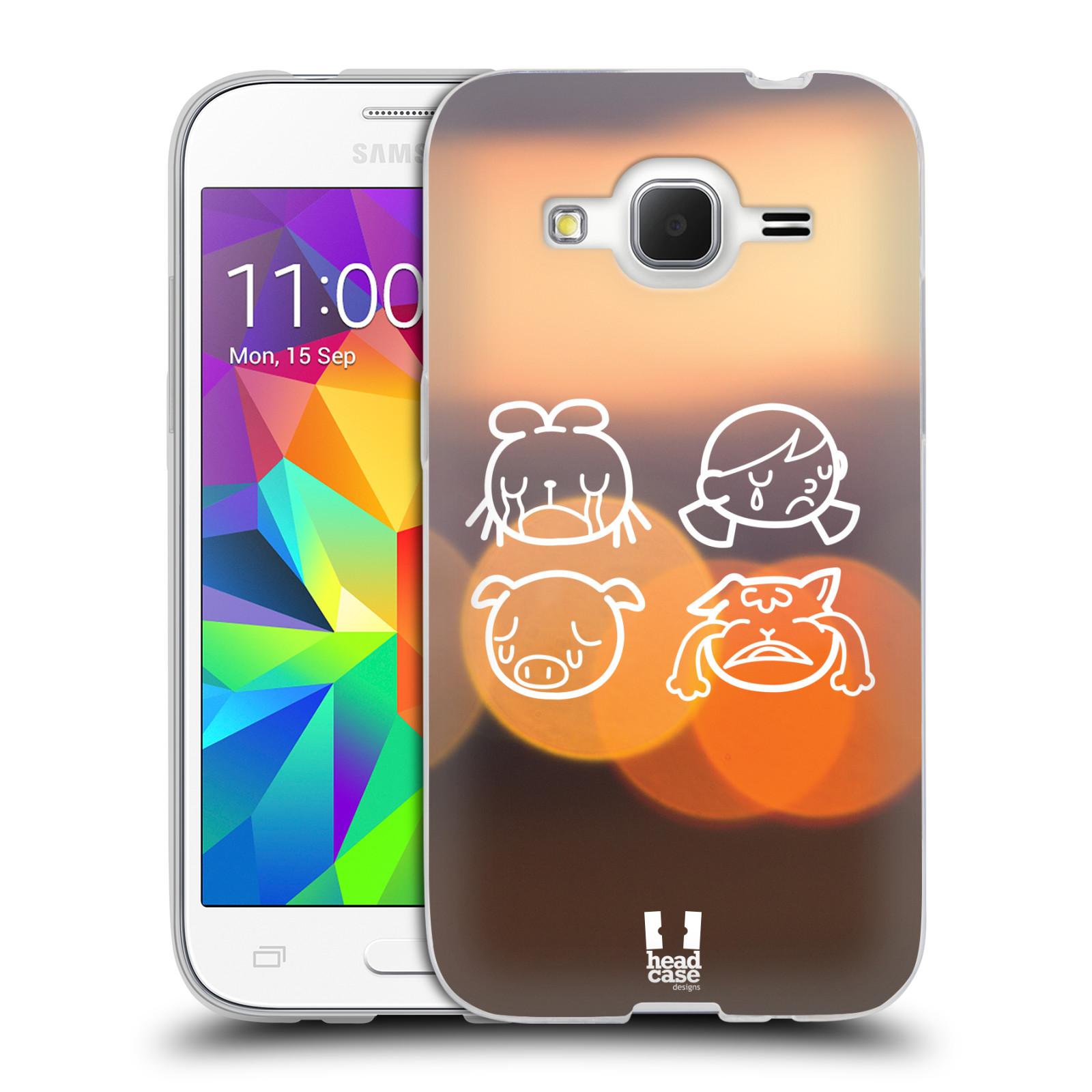 Silikonové pouzdro na mobil Samsung Galaxy Core Prime VE HEAD CASE EMOJI SAD