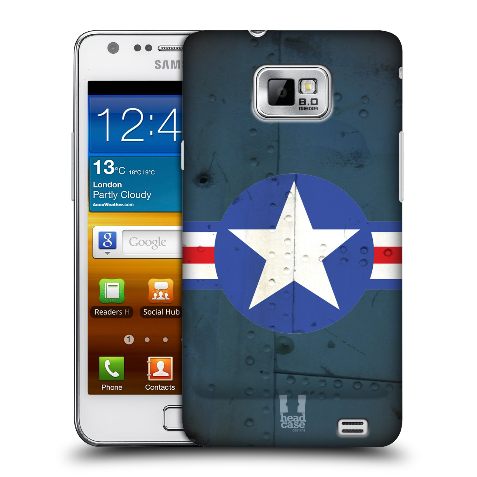Plastové pouzdro na mobil Samsung Galaxy S II HEAD CASE POSTWAR (Kryt či obal na mobilní telefon Samsung Galaxy S II GT-i9100)