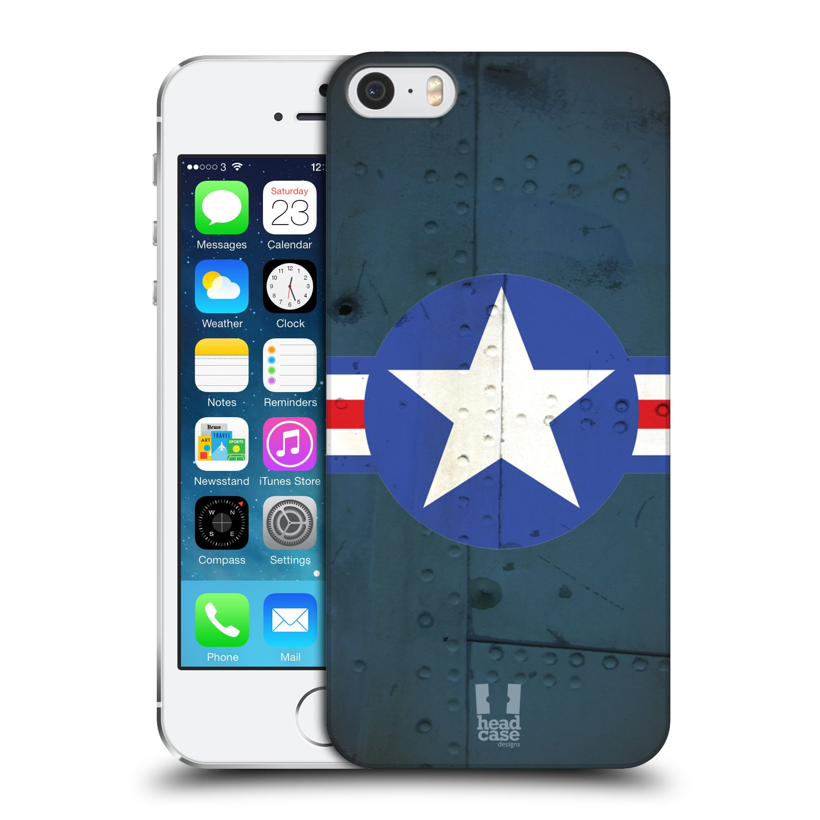 Plastové pouzdro na mobil Apple iPhone SE, 5 a 5S HEAD CASE POSTWAR