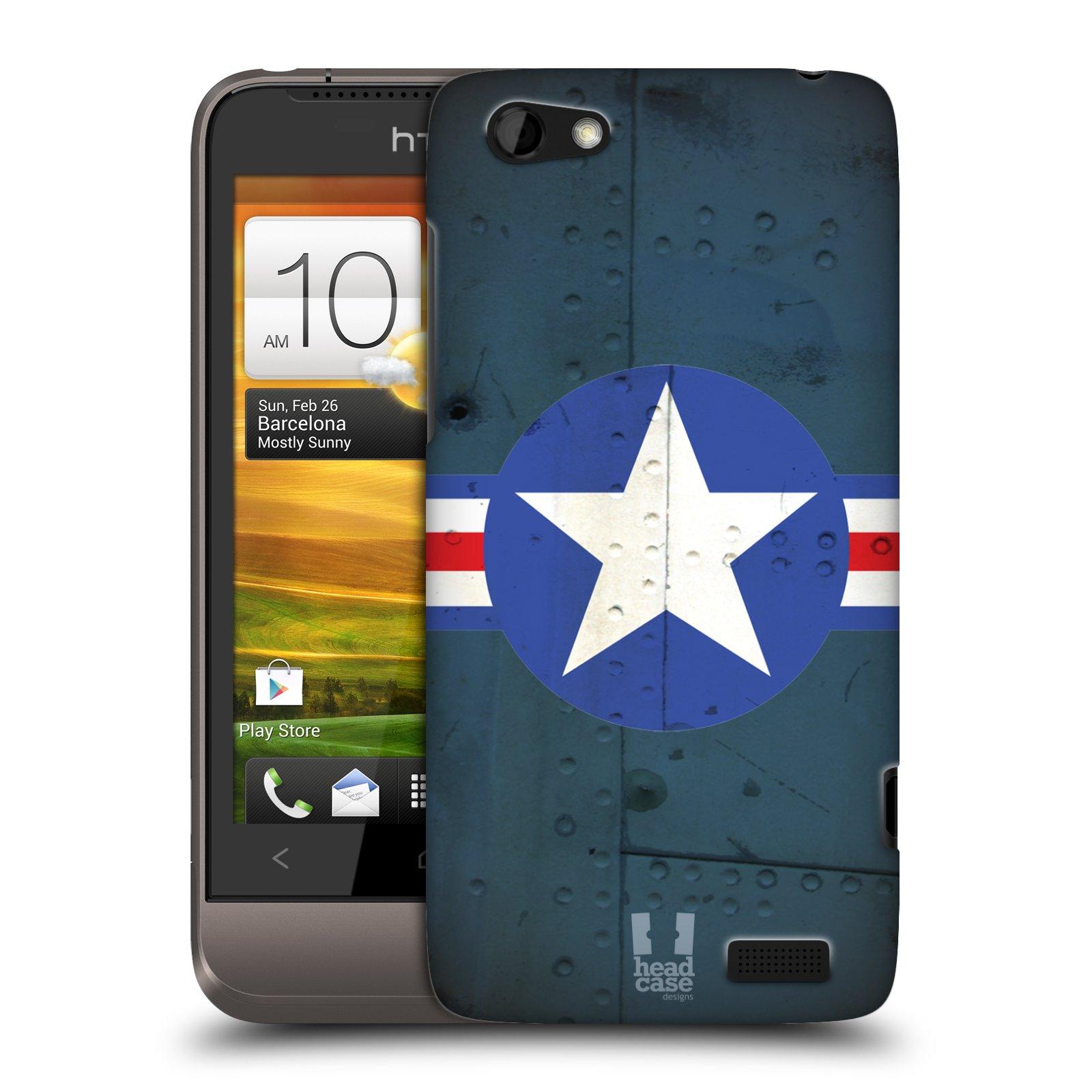Plastové pouzdro na mobil HTC ONE V HEAD CASE POSTWAR (Kryt či obal na mobilní telefon HTC ONE V)