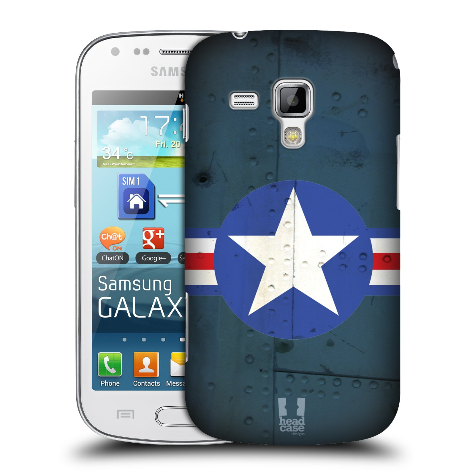 Plastové pouzdro na mobil Samsung Galaxy S Duos HEAD CASE POSTWAR (Kryt či obal na mobilní telefon Samsung Galaxy S Duos GT-S7562)