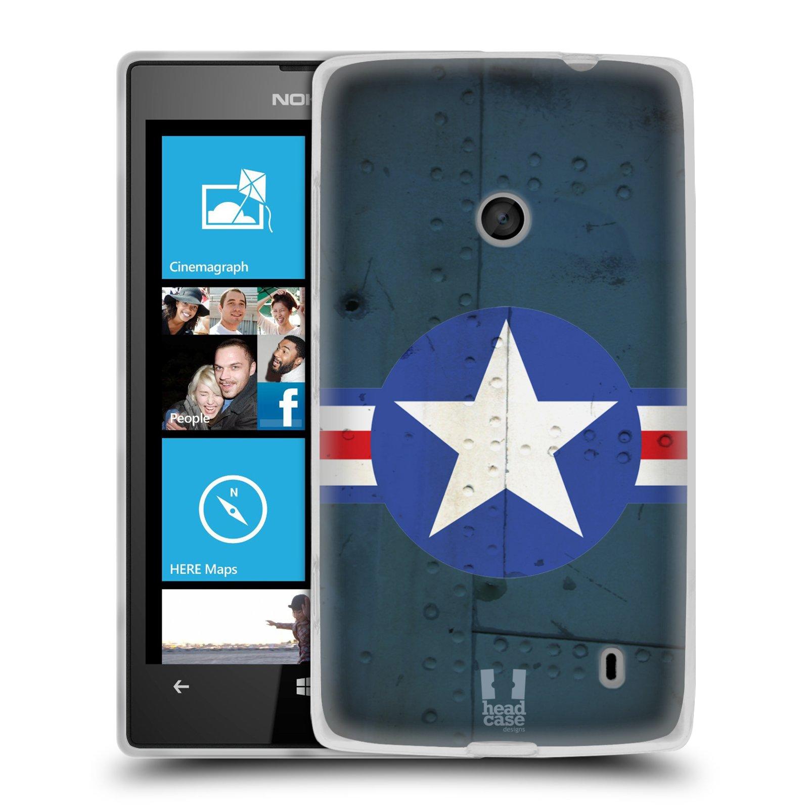 Silikonové pouzdro na mobil Nokia Lumia 520 HEAD CASE POSTWAR (Silikonový Kryt či obal na mobilní telefon Nokia Lumia 520)