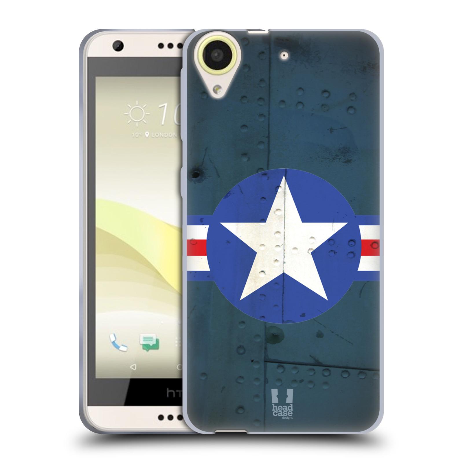 Silikonové pouzdro na mobil HTC Desire 650 HEAD CASE POSTWAR (Silikonový kryt či obal na mobilní telefon HTC Desire 650)