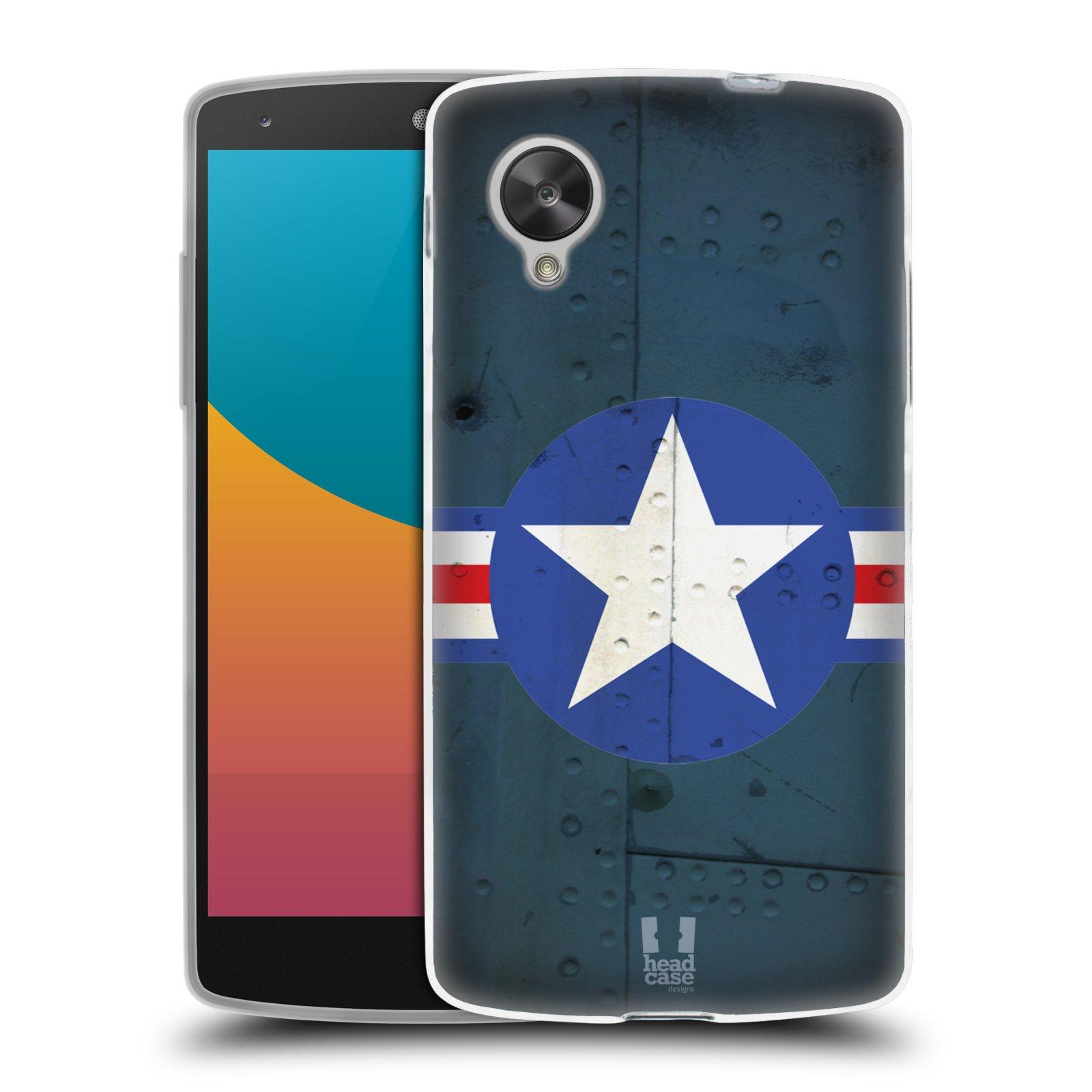 Silikonové pouzdro na mobil LG Nexus 5 HEAD CASE POSTWAR (Silikonový kryt či obal na mobilní telefon LG Google Nexus 5 D821)