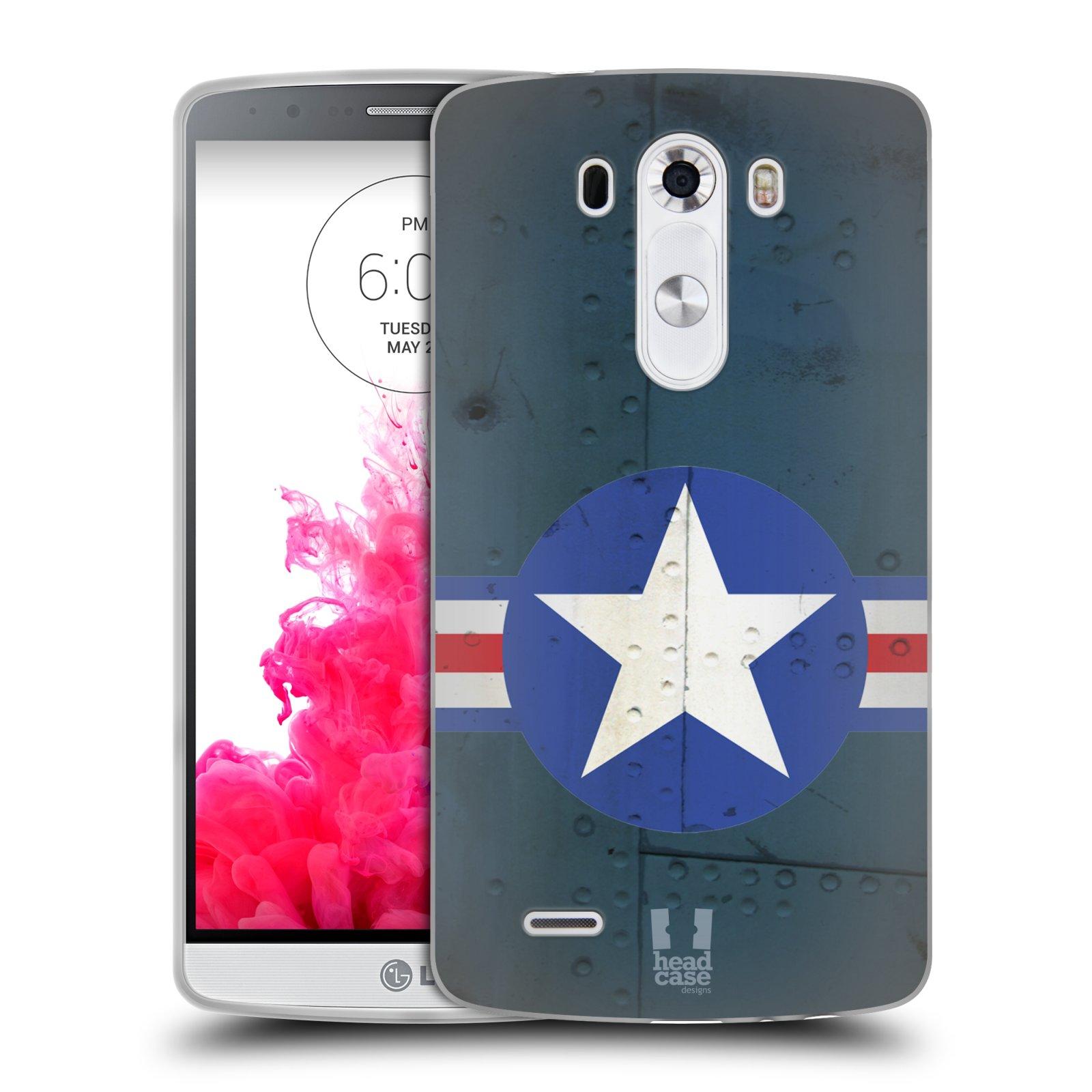 Silikonové pouzdro na mobil LG G3 HEAD CASE POSTWAR (Silikonový kryt či obal na mobilní telefon LG G3 D855)