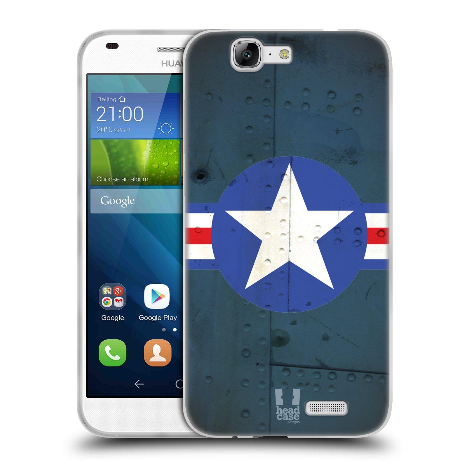 Silikonové pouzdro na mobil Huawei Ascend G7 HEAD CASE POSTWAR (Silikonový kryt či obal na mobilní telefon Huawei Ascend G7)