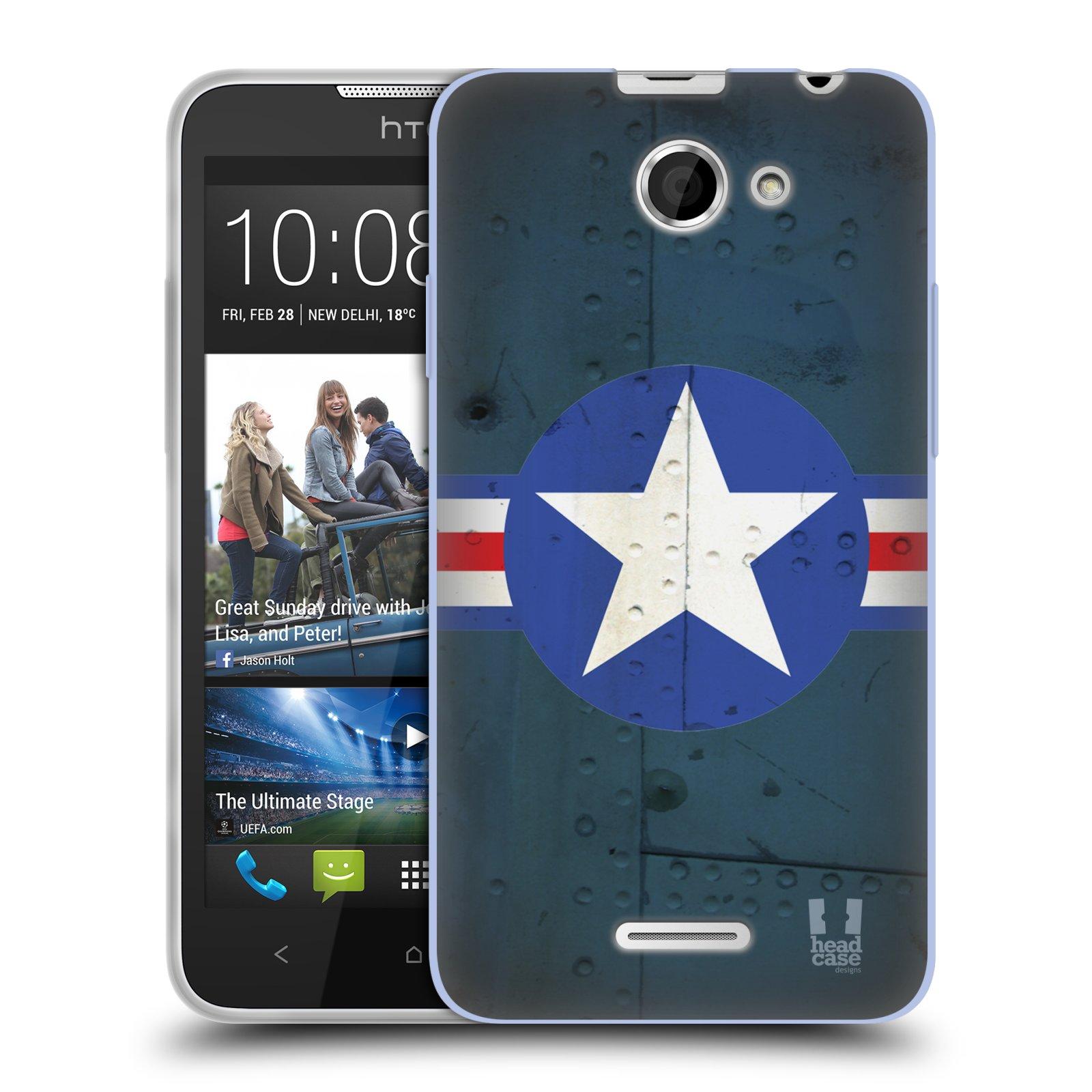 Silikonové pouzdro na mobil HTC Desire 516 HEAD CASE POSTWAR (Silikonový kryt či obal na mobilní telefon HTC Desire 516 Dual SIM)