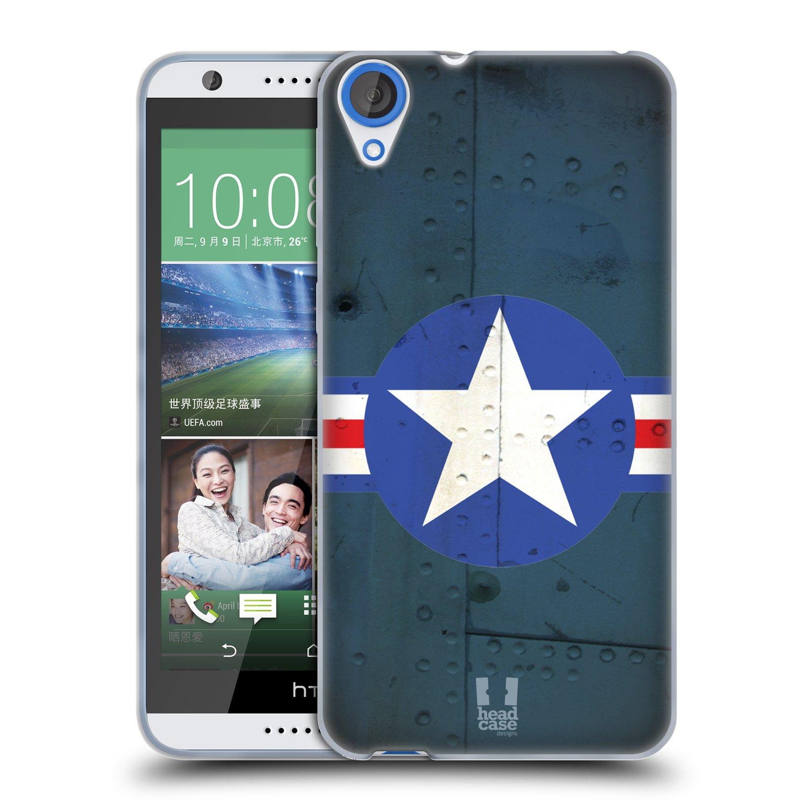 Silikonové pouzdro na mobil HTC Desire 820 HEAD CASE POSTWAR (Silikonový kryt či obal na mobilní telefon HTC Desire 820)