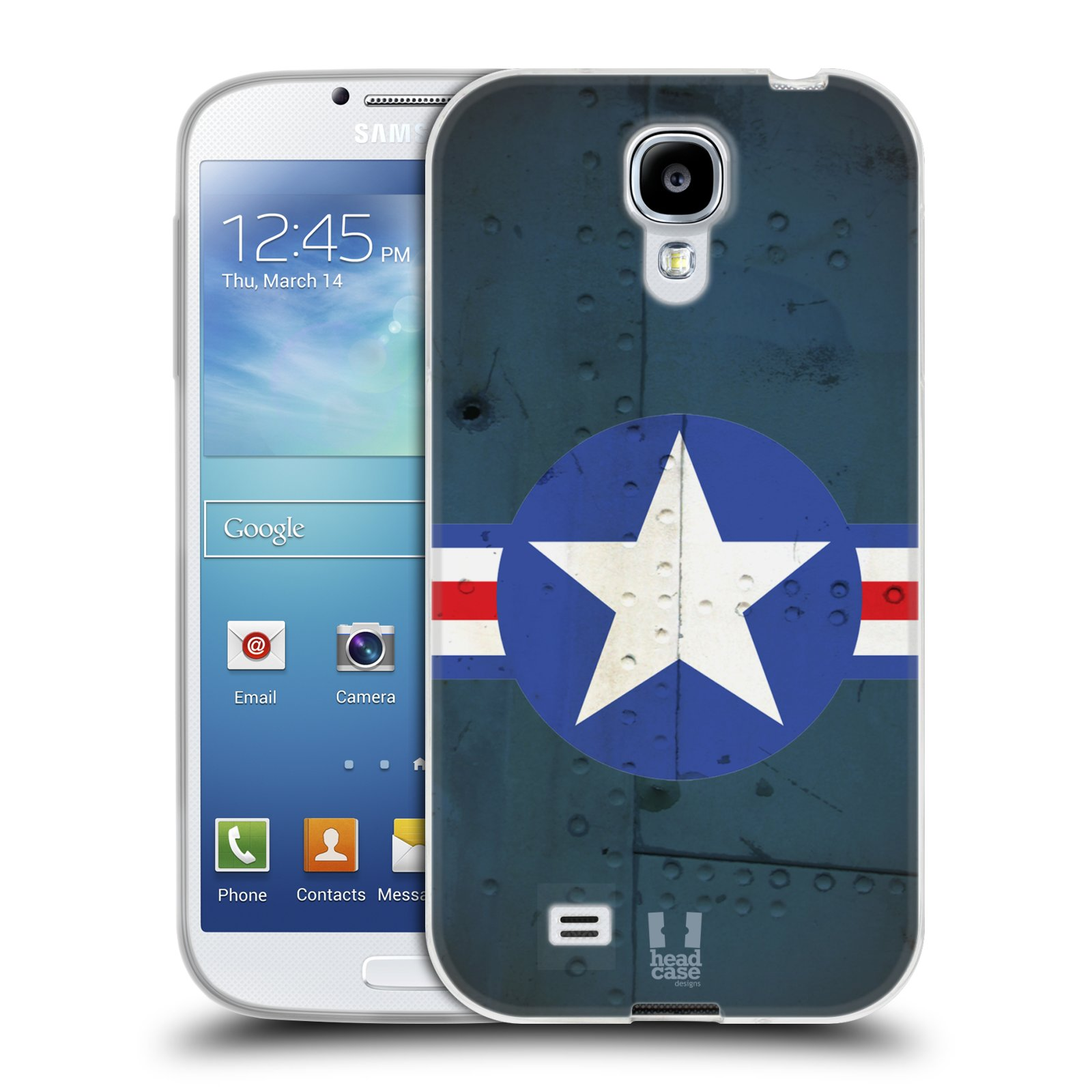 Silikonové pouzdro na mobil Samsung Galaxy S4 HEAD CASE POSTWAR (Silikonový kryt či obal na mobilní telefon Samsung Galaxy S4 GT-i9505 / i9500)