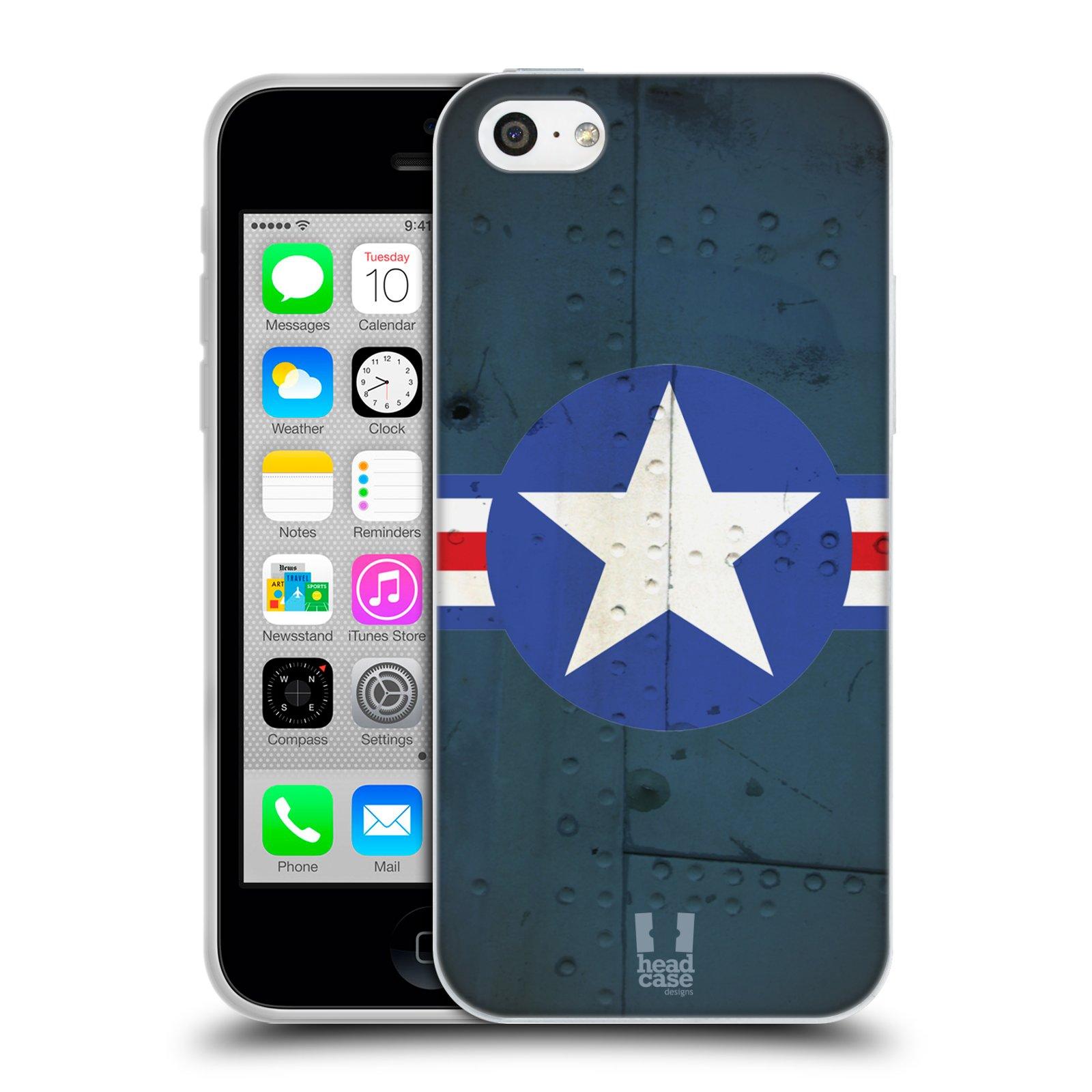 Silikonové pouzdro na mobil Apple iPhone 5C HEAD CASE POSTWAR (Silikonový kryt či obal na mobilní telefon Apple iPhone 5C)