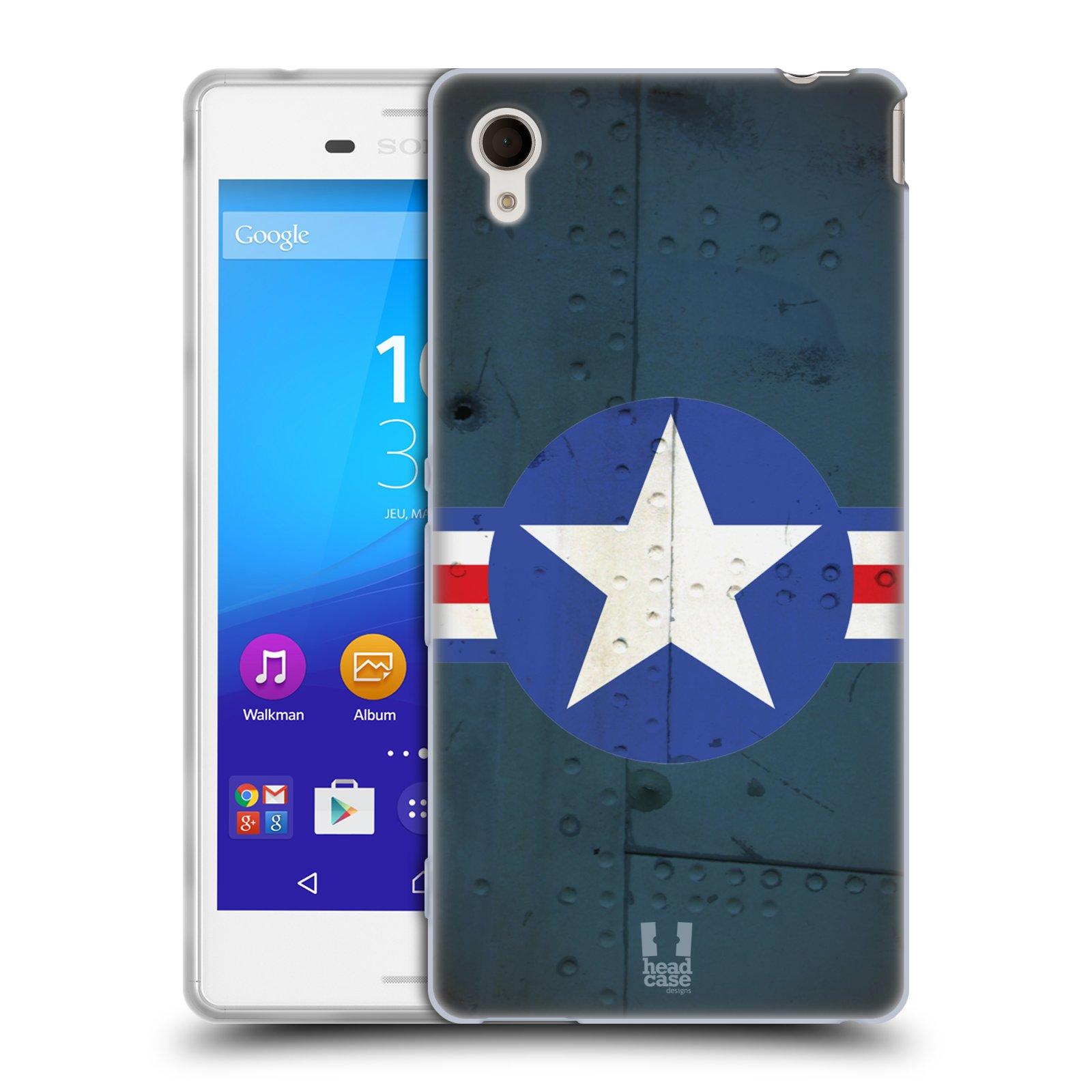 Silikonové pouzdro na mobil Sony Xperia M4 Aqua E2303 HEAD CASE POSTWAR (Silikonový kryt či obal na mobilní telefon Sony Xperia M4 Aqua a M4 Aqua Dual SIM)