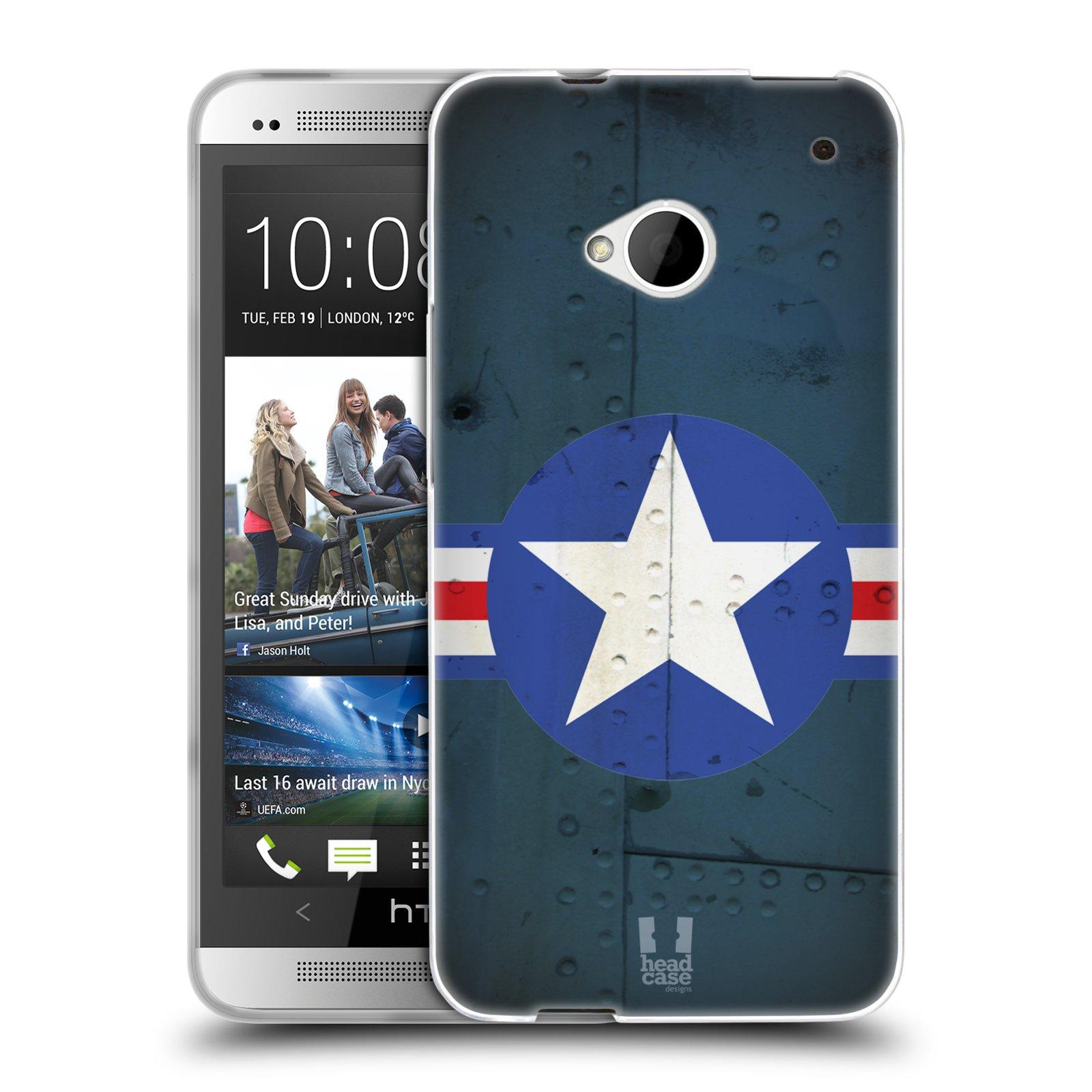 Silikonové pouzdro na mobil HTC ONE M7 HEAD CASE POSTWAR (Silikonový kryt či obal na mobilní telefon HTC ONE M7)