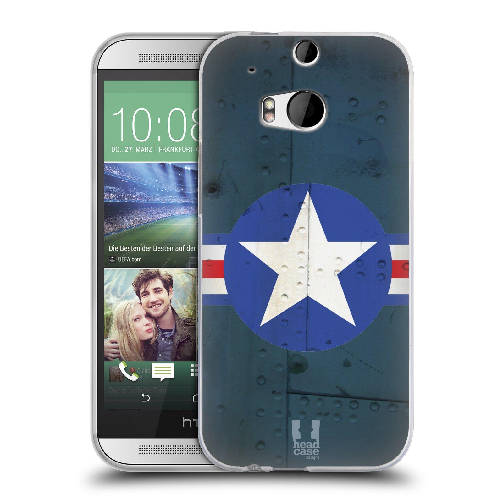 Silikonové pouzdro na mobil HTC ONE M8 HEAD CASE POSTWAR (Silikonový kryt či obal na mobilní telefon HTC ONE M8)