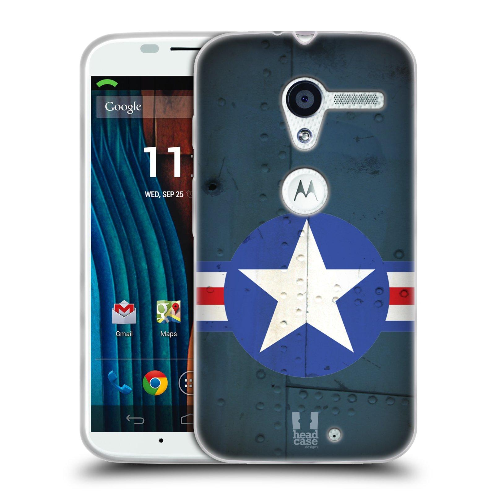 Silikonové pouzdro na mobil Motorola Moto X HEAD CASE POSTWAR (Silikonový kryt či obal na mobilní telefon Motorola Moto X)