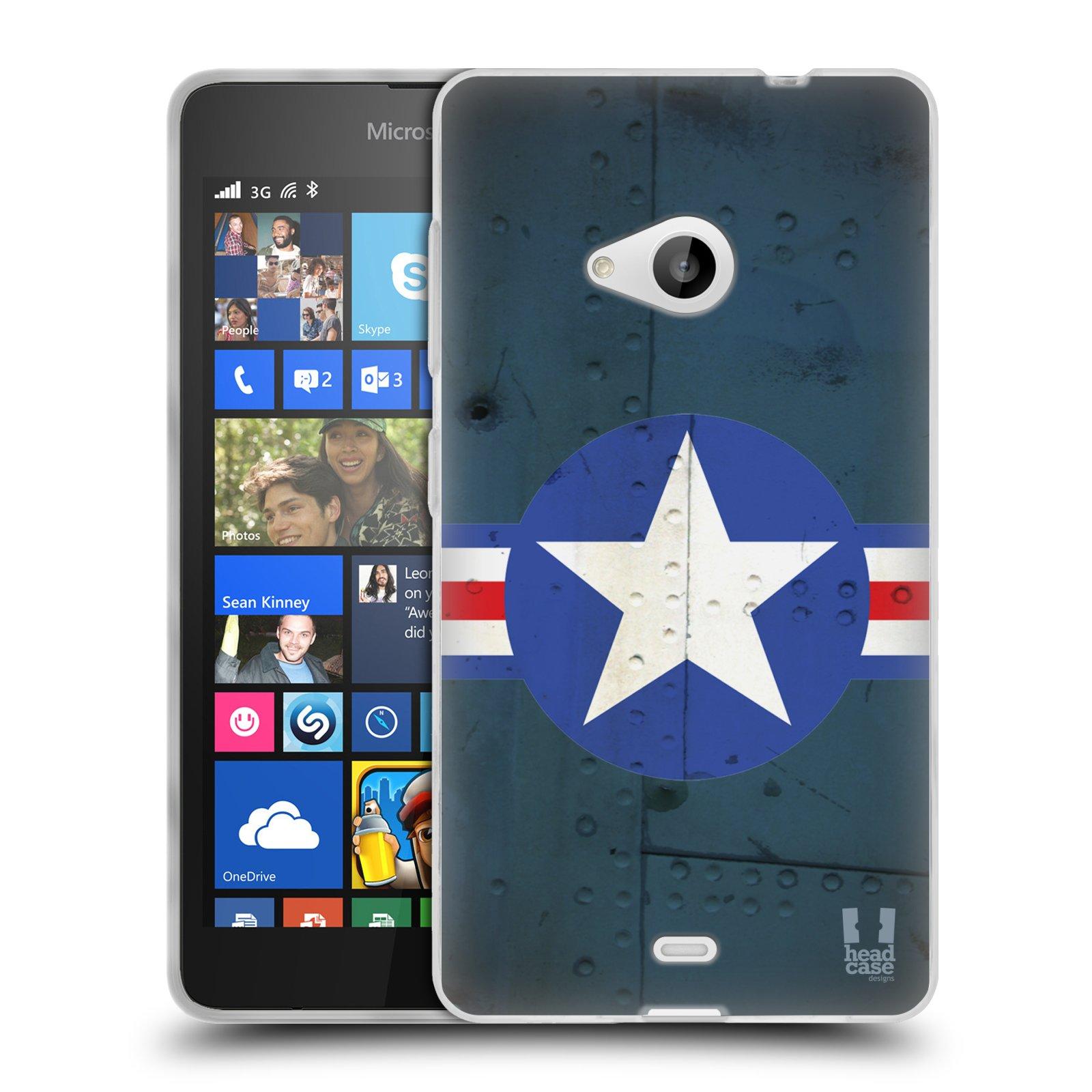 Silikonové pouzdro na mobil Microsoft Lumia 535 HEAD CASE POSTWAR (Silikonový kryt či obal na mobilní telefon Microsoft Lumia 535)