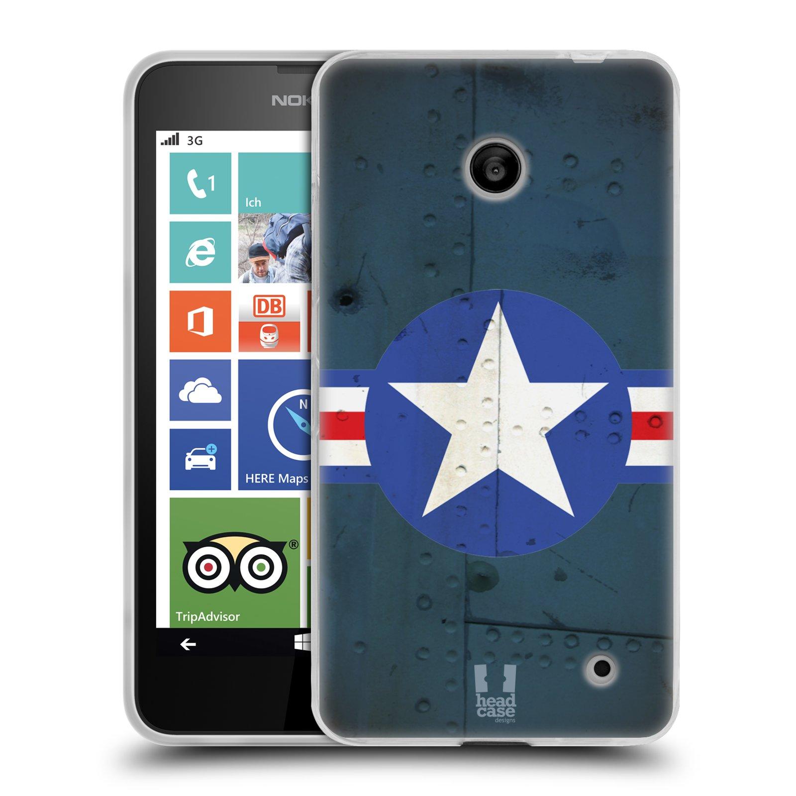 Silikonové pouzdro na mobil Nokia Lumia 630 HEAD CASE POSTWAR (Silikonový kryt či obal na mobilní telefon Nokia Lumia 630 a Nokia Lumia 630 Dual SIM)