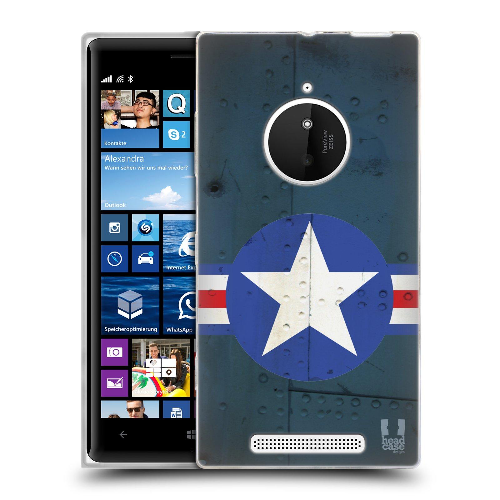 Silikonové pouzdro na mobil Nokia Lumia 830 HEAD CASE POSTWAR (Silikonový kryt či obal na mobilní telefon Nokia Lumia 830)