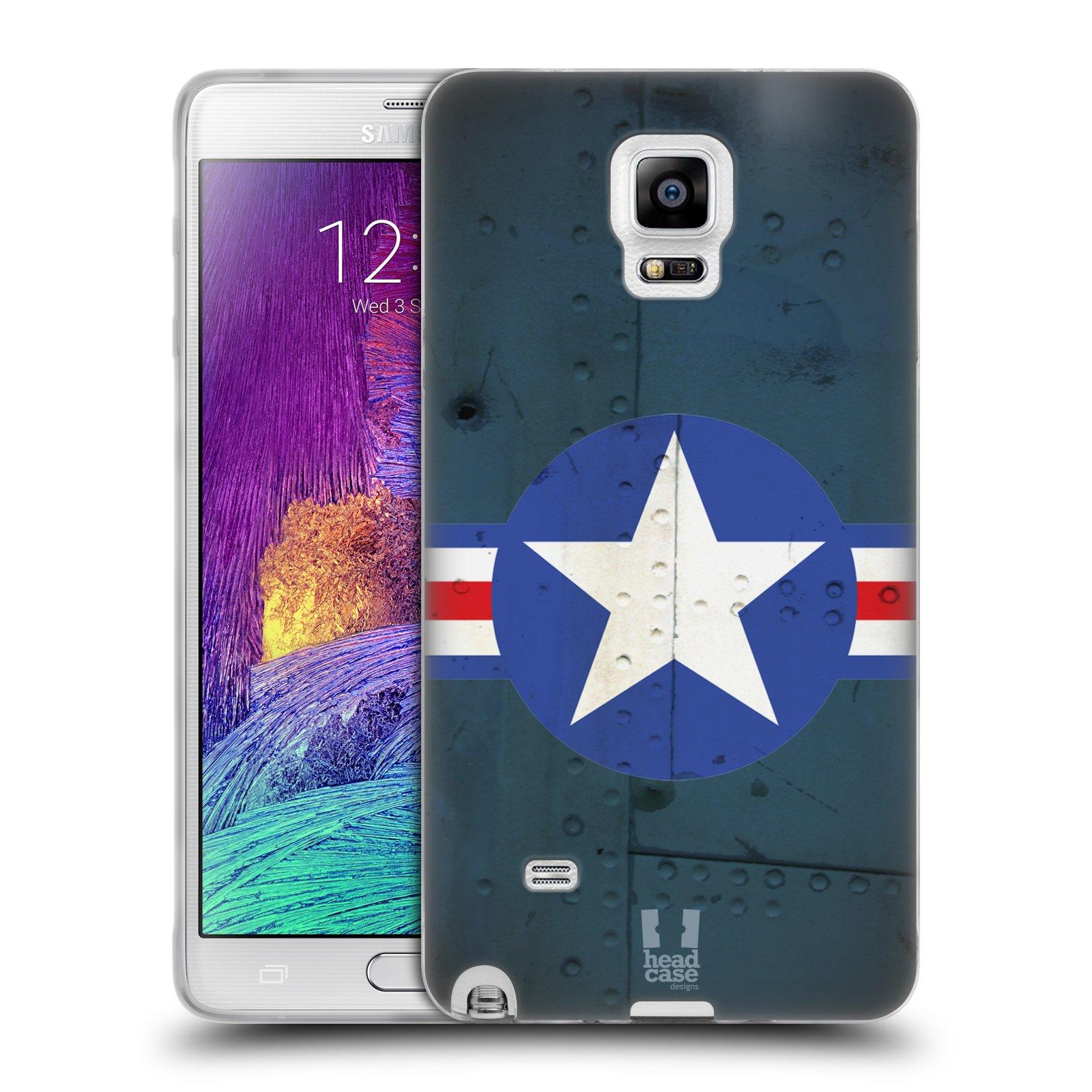 Silikonové pouzdro na mobil Samsung Galaxy Note 4 HEAD CASE POSTWAR (Silikonový kryt či obal na mobilní telefon Samsung Galaxy Note 4 SM-N910F)