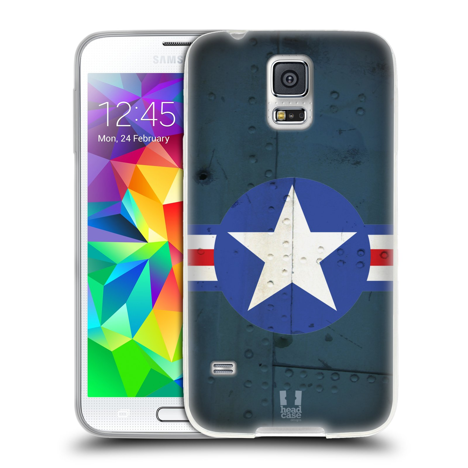 Silikonové pouzdro na mobil Samsung Galaxy S5 HEAD CASE POSTWAR (Silikonový kryt či obal na mobilní telefon Samsung Galaxy S5 SM-G900F)