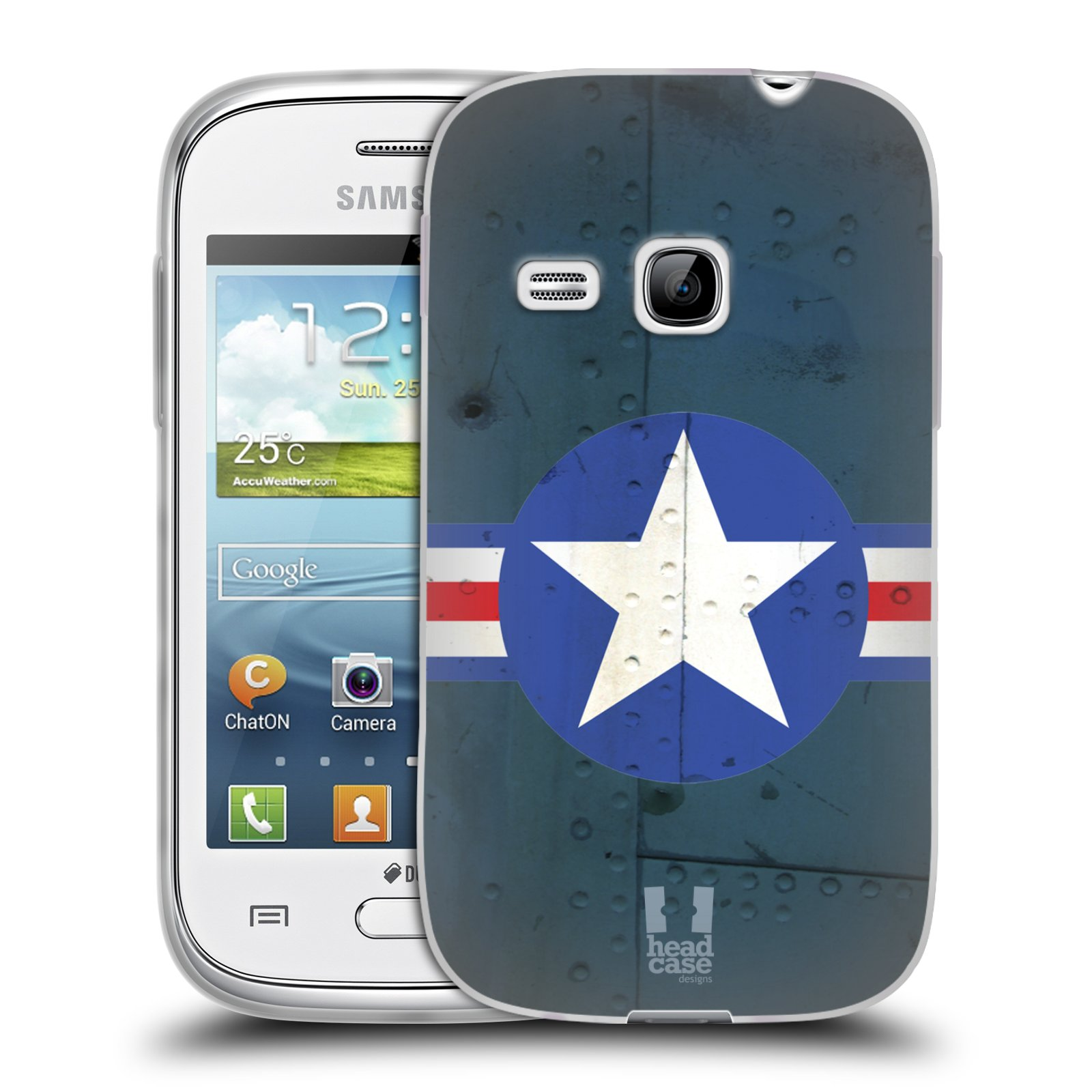 Silikonové pouzdro na mobil Samsung Galaxy Young HEAD CASE POSTWAR (Silikonový kryt či obal na mobilní telefon Samsung Galaxy Young GT-S6310)