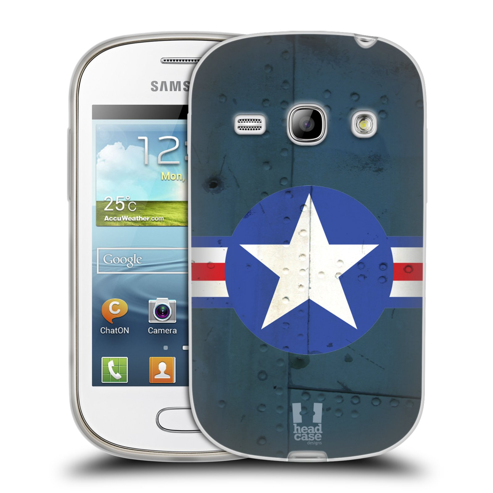 Silikonové pouzdro na mobil Samsung Galaxy Fame HEAD CASE POSTWAR (Silikonový kryt či obal na mobilní telefon Samsung Galaxy Fame GT-S6810)