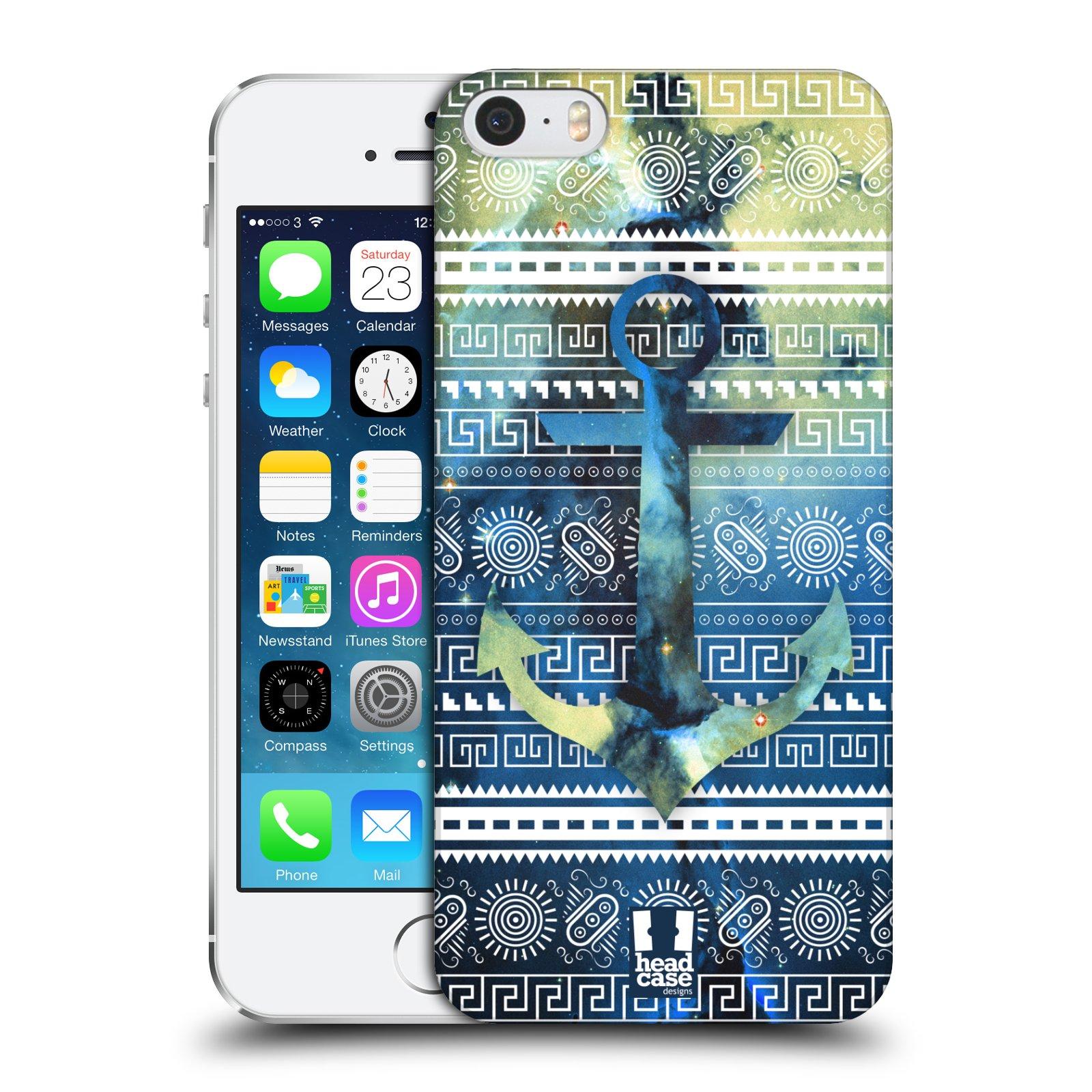 Plastové pouzdro na mobil Apple iPhone SE, 5 a 5S HEAD CASE NEBULA KOTVA
