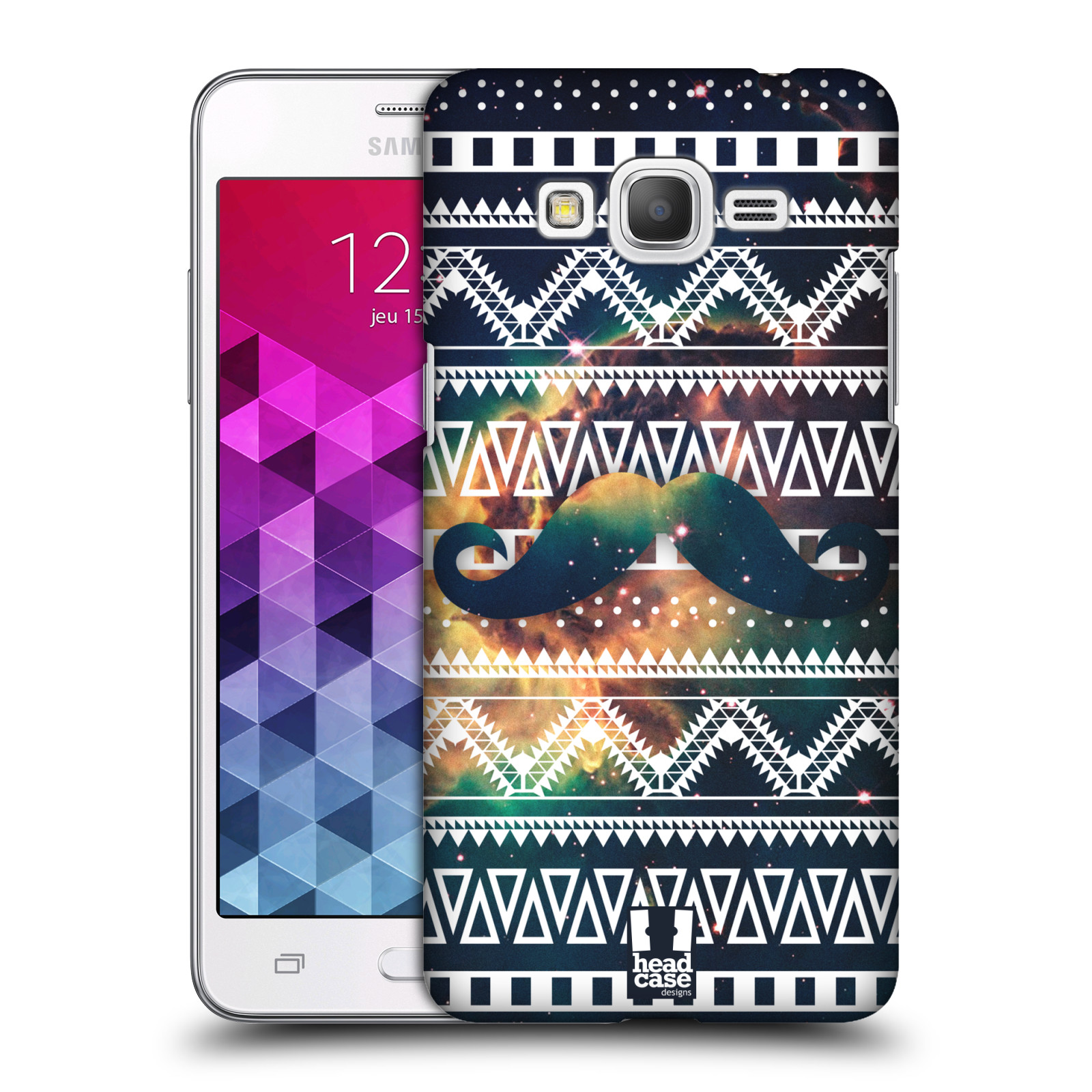 Plastové pouzdro na mobil Samsung Galaxy Grand Prime VE HEAD CASE AZTEC KNÍR