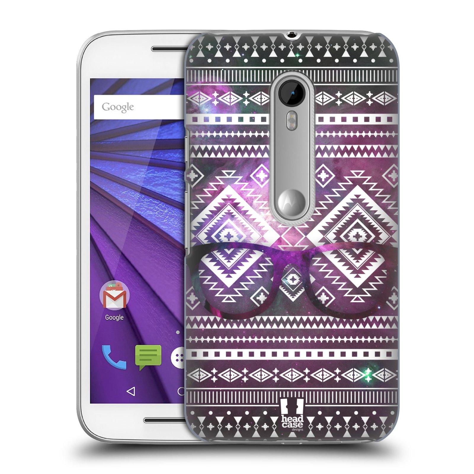 Plastové pouzdro na mobil Motorola Moto G 3RD GENERATION HEAD CASE NEBULA BRÝLE (Kryt či obal na mobilní telefon Motorola Moto G 3. Generace)