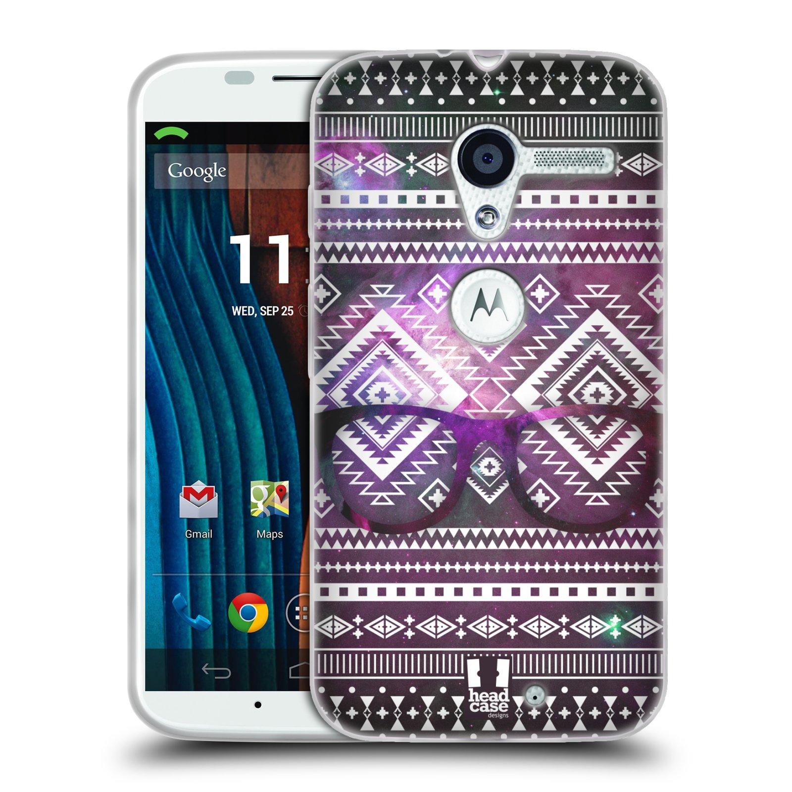 Silikonové pouzdro na mobil Motorola Moto X HEAD CASE NEBULA BRÝLE (Silikonový kryt či obal na mobilní telefon Motorola Moto X)