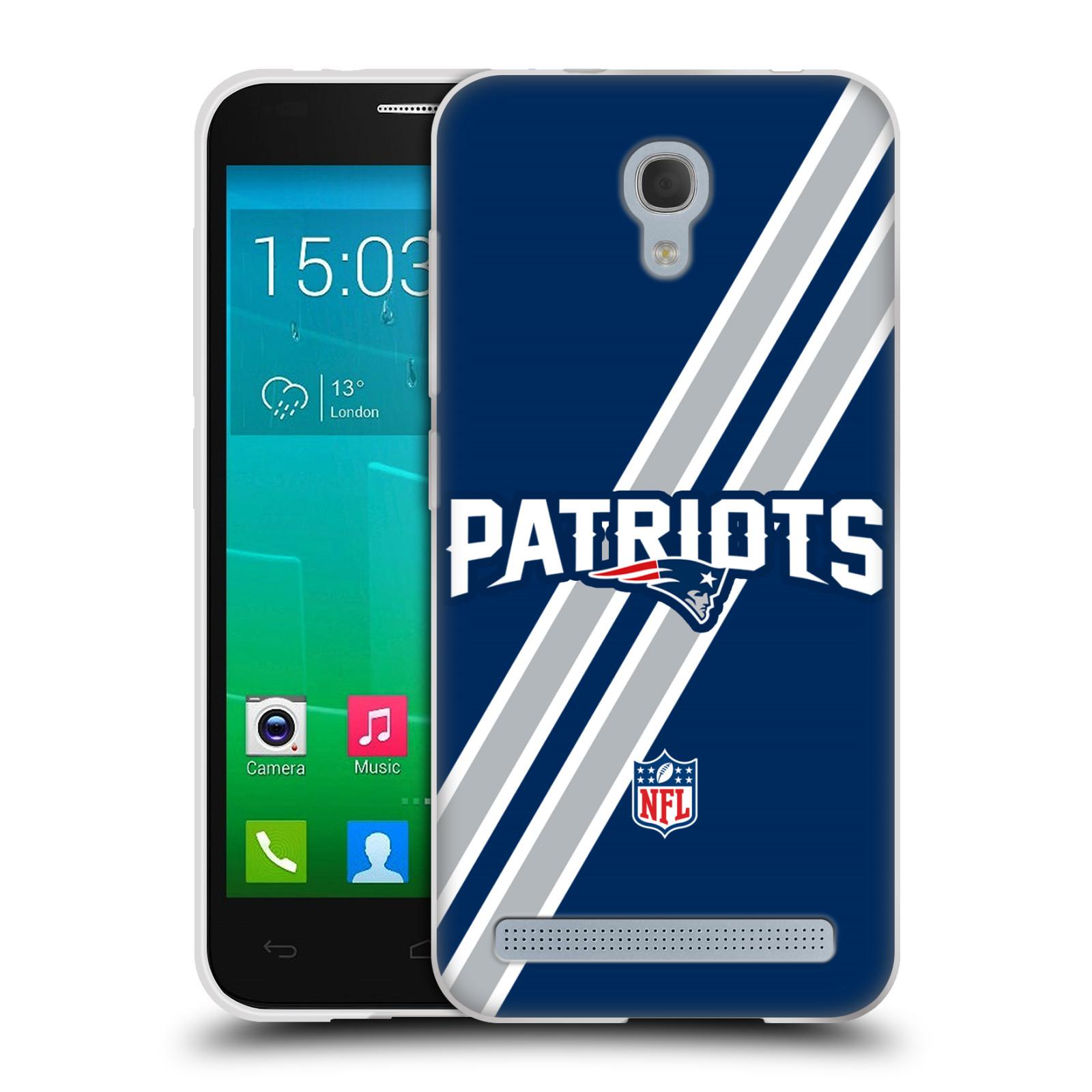 Silikonové pouzdro na mobil Alcatel One Touch Idol 2 Mini S 6036Y HEAD CASE NFL - New England Patriots (Silikonový kryt či obal na mobilní telefon licencovaným motivem NFL pro Alcatel Idol 2 Mini S OT-6036Y)