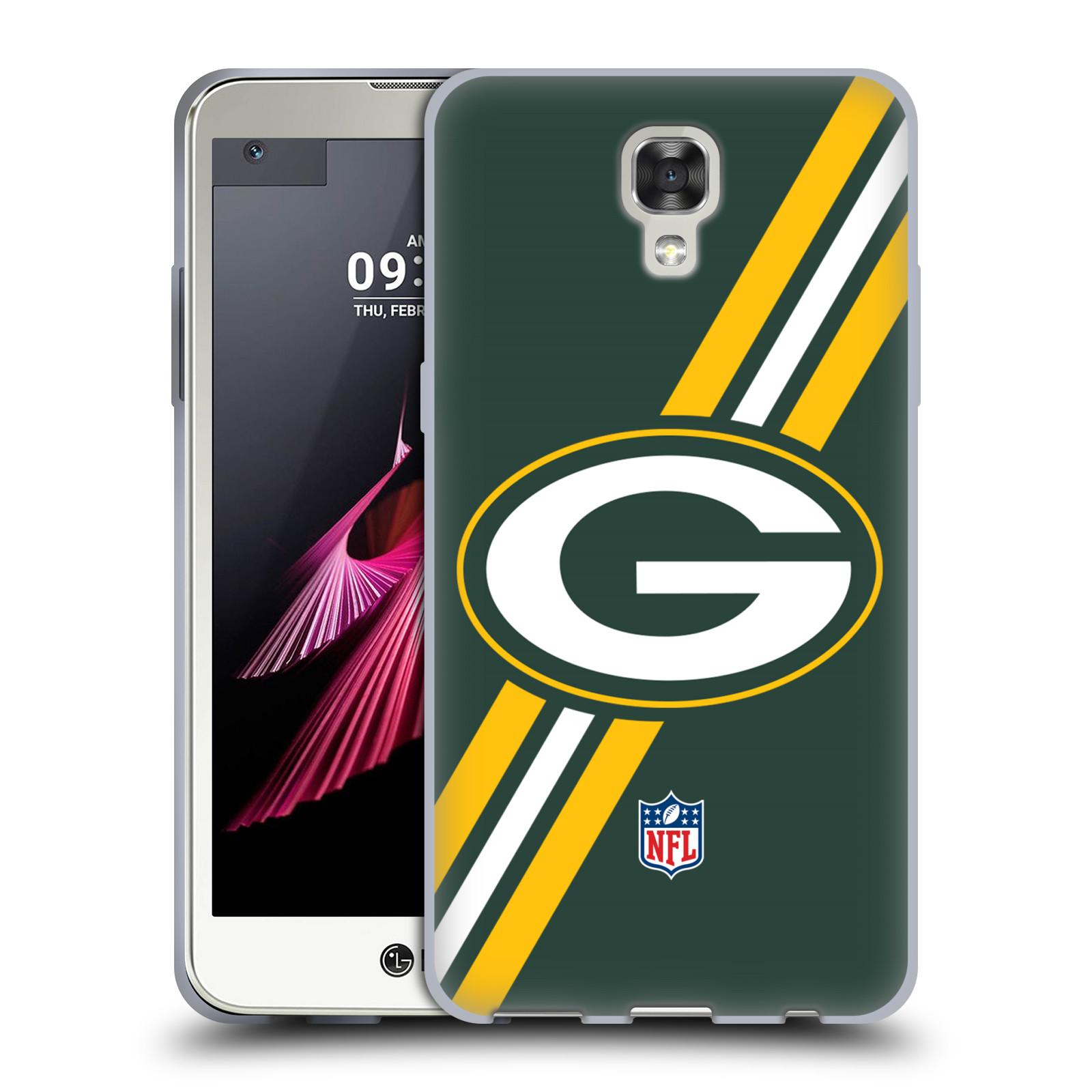 Silikonové pouzdro na mobil LG X Screen HEAD CASE NFL - Green Bay Packers (Silikonový kryt či obal na mobilní telefon licencovaným motivem NFL pro LG X Screen K500N)