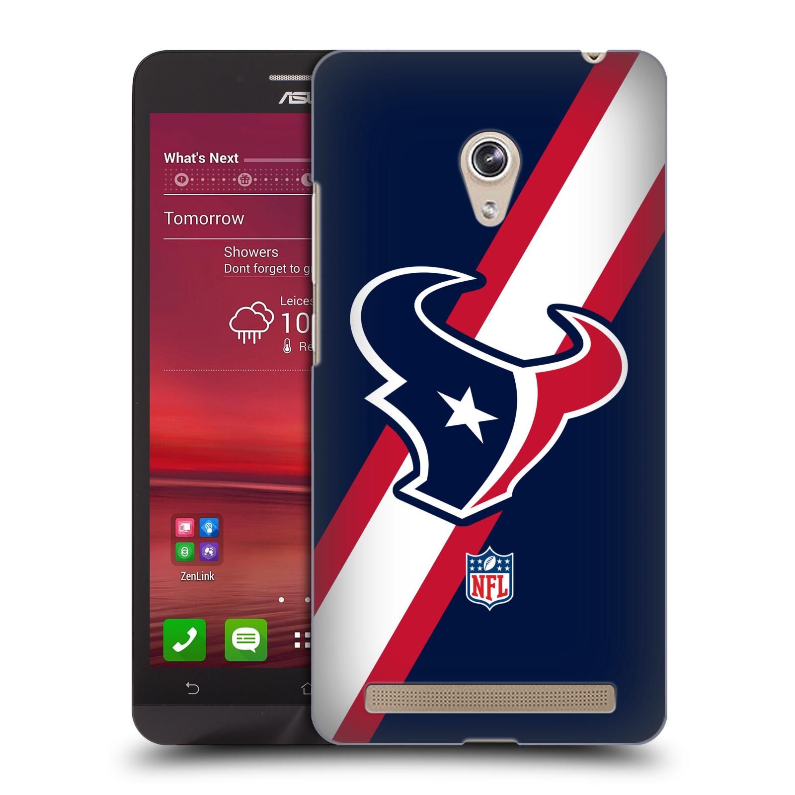 Plastové pouzdro na mobil Asus Zenfone 6 HEAD CASE NFL - Houston Texans (Plastový kryt či obal na mobilní telefon licencovaným motivem NFL pro Asus Zenfone 6 A600CG / A601CG)