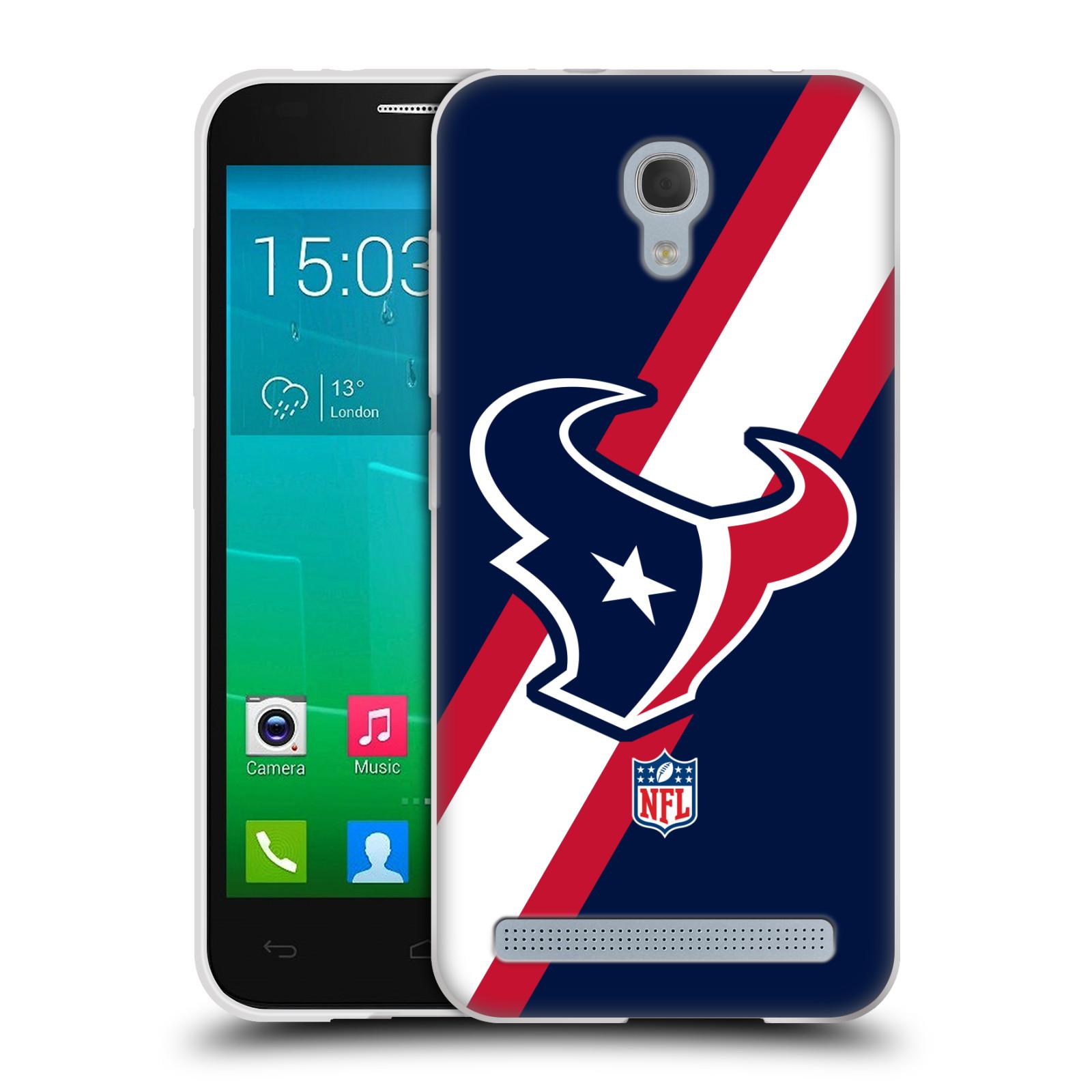 Silikonové pouzdro na mobil Alcatel One Touch Idol 2 Mini S 6036Y HEAD CASE NFL - Houston Texans (Silikonový kryt či obal na mobilní telefon licencovaným motivem NFL pro Alcatel Idol 2 Mini S OT-6036Y)