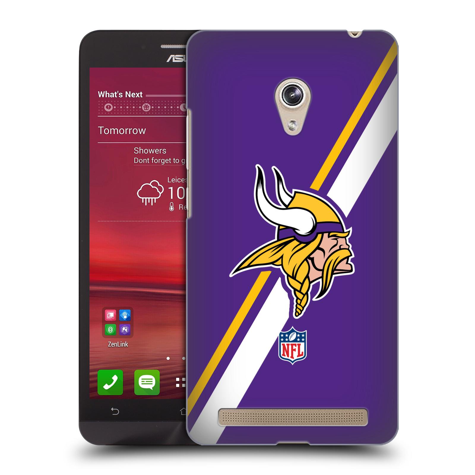 Plastové pouzdro na mobil Asus Zenfone 6 HEAD CASE NFL - Minnesota Vikings (Plastový kryt či obal na mobilní telefon licencovaným motivem NFL pro Asus Zenfone 6 A600CG / A601CG)