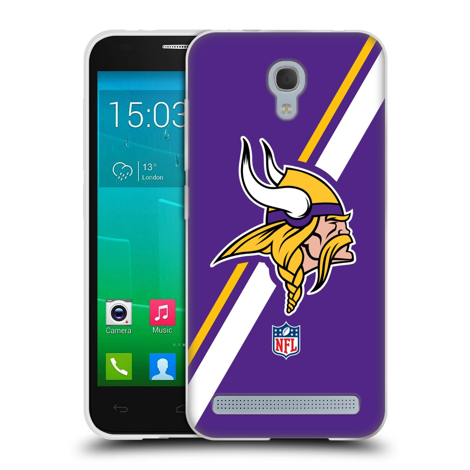 Silikonové pouzdro na mobil Alcatel One Touch Idol 2 Mini S 6036Y HEAD CASE NFL - Minnesota Vikings (Silikonový kryt či obal na mobilní telefon licencovaným motivem NFL pro Alcatel Idol 2 Mini S OT-6036Y)