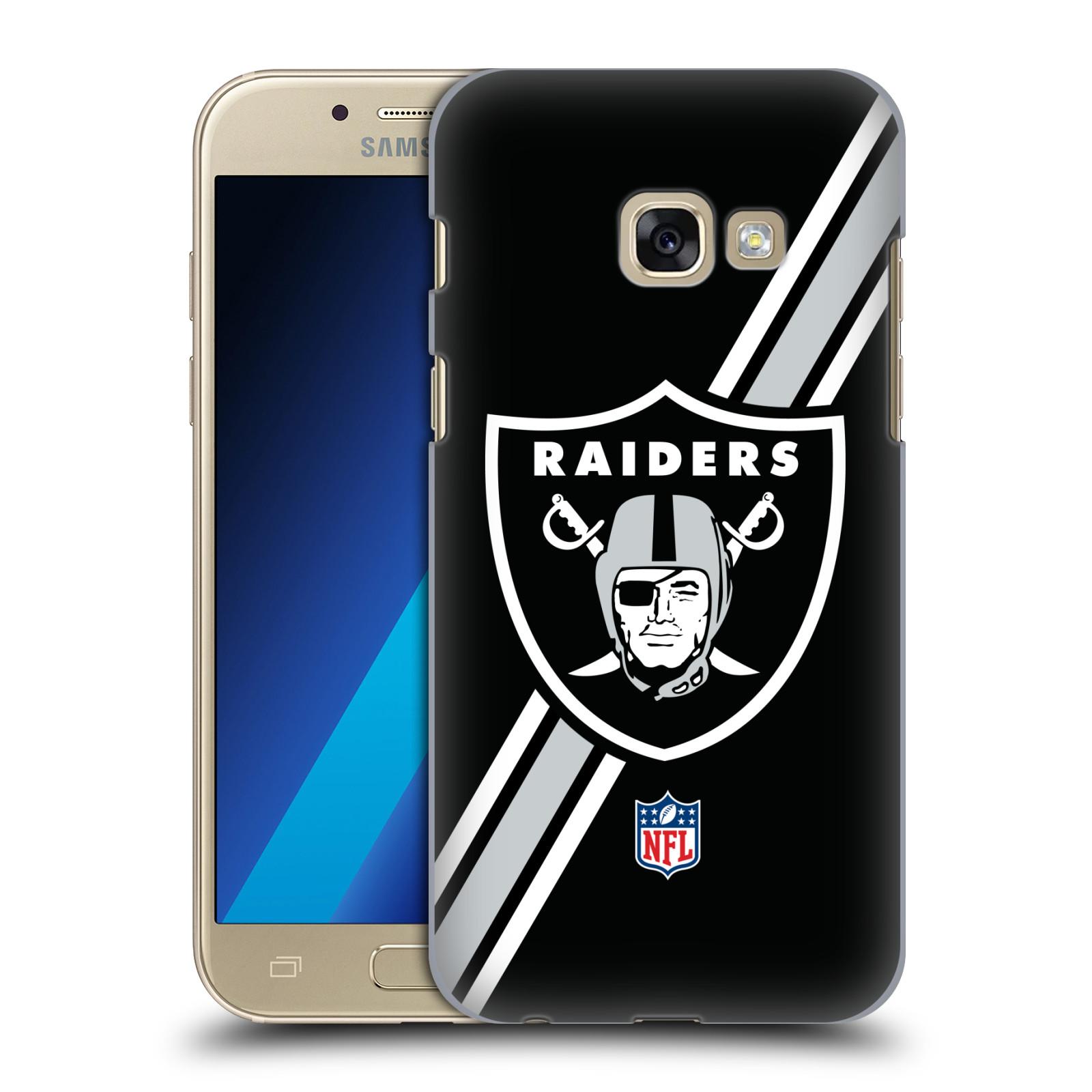 Plastové pouzdro na mobil Samsung Galaxy A3 (2017) HEAD CASE NFL - Oakland Raiders