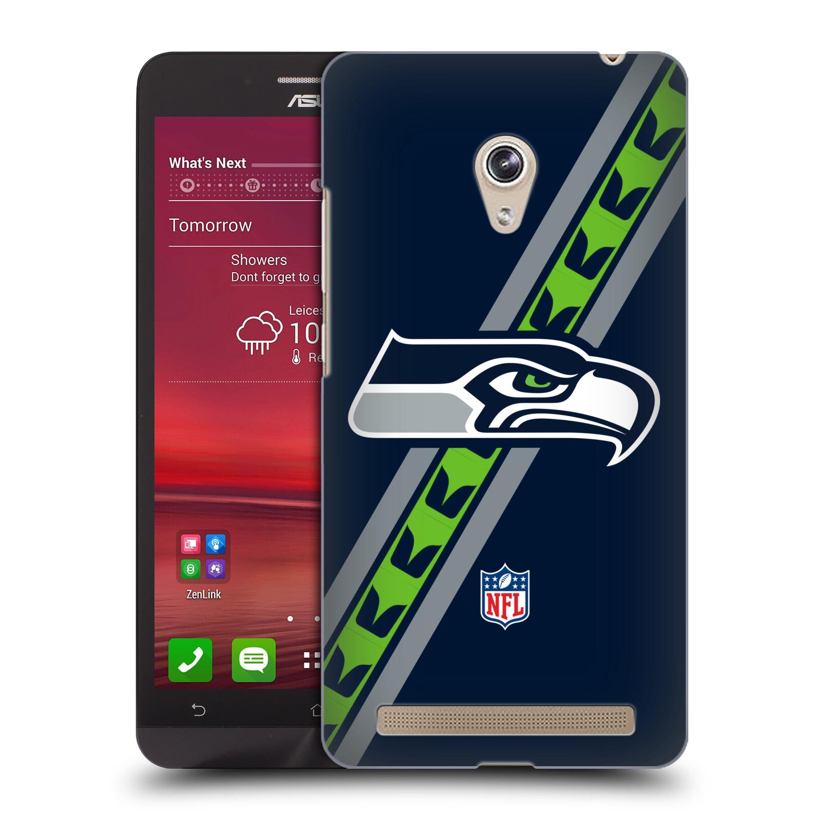 Plastové pouzdro na mobil Asus Zenfone 6 HEAD CASE NFL - Seattle Seahawks (Plastový kryt či obal na mobilní telefon licencovaným motivem NFL pro Asus Zenfone 6 A600CG / A601CG)
