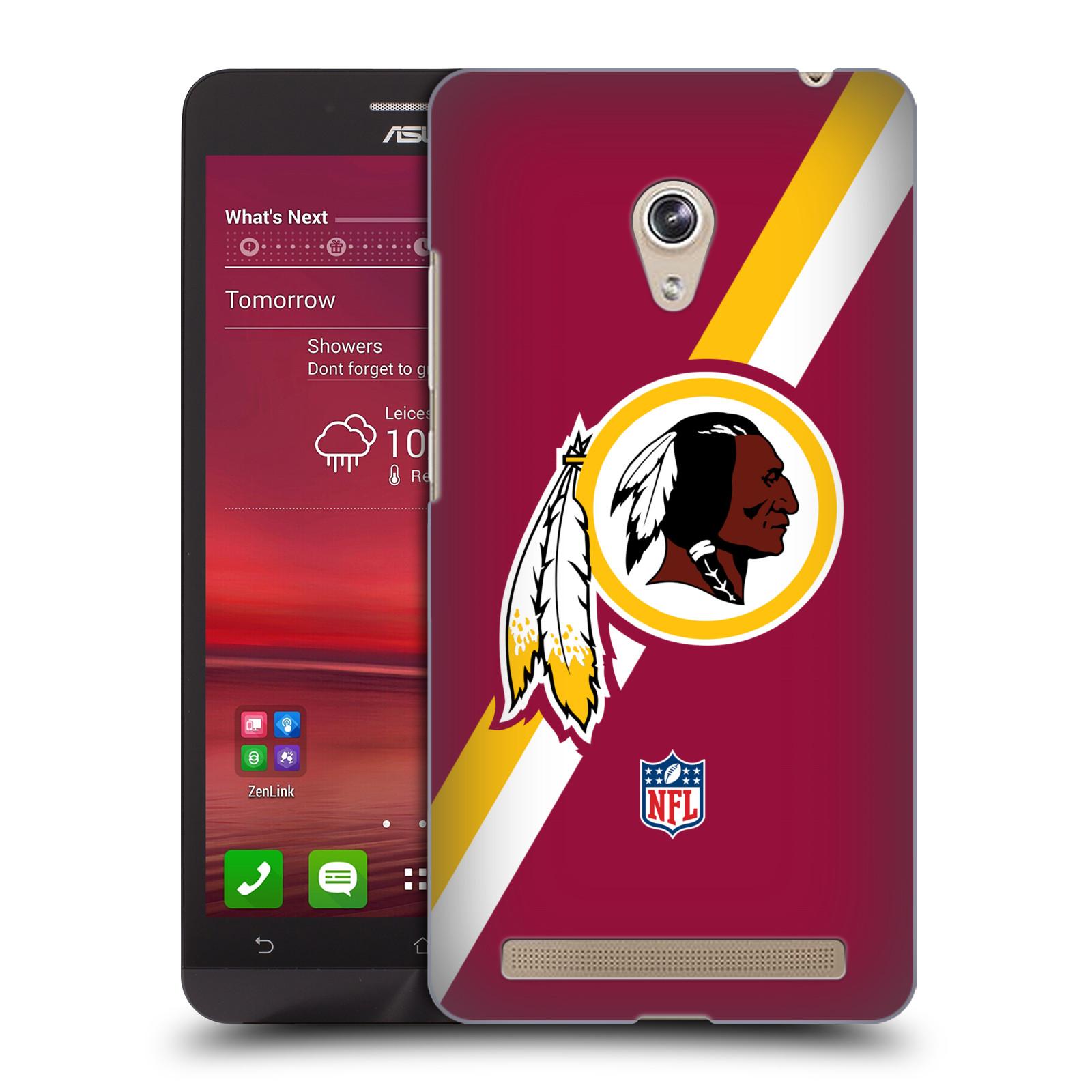 Plastové pouzdro na mobil Asus Zenfone 6 HEAD CASE NFL - Washington Redskins (Plastový kryt či obal na mobilní telefon licencovaným motivem NFL pro Asus Zenfone 6 A600CG / A601CG)