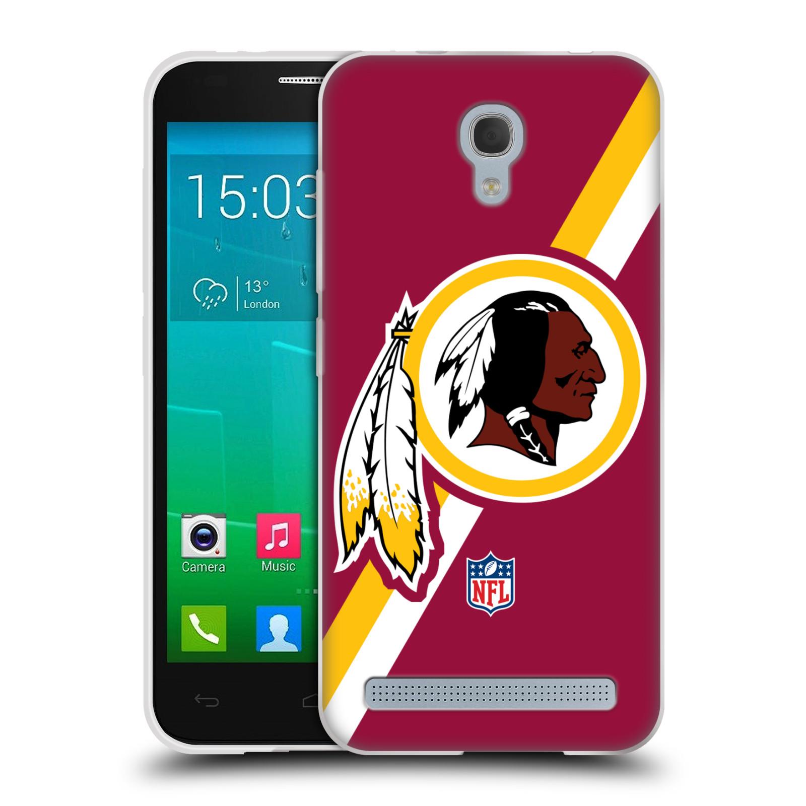 Silikonové pouzdro na mobil Alcatel One Touch Idol 2 Mini S 6036Y HEAD CASE NFL - Washington Redskins (Silikonový kryt či obal na mobilní telefon licencovaným motivem NFL pro Alcatel Idol 2 Mini S OT-6036Y)