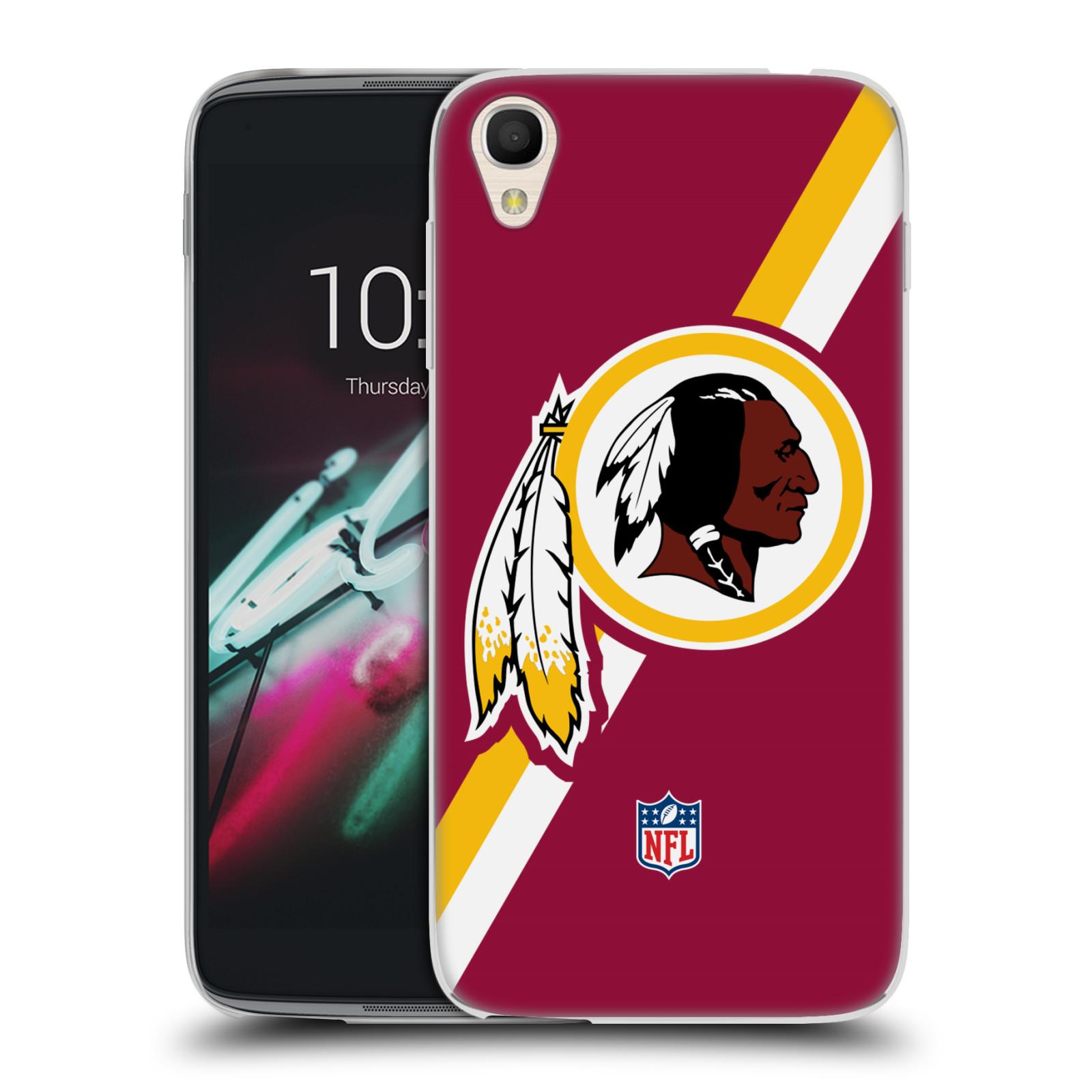 """Silikonové pouzdro na mobil Alcatel One Touch 6039Y Idol 3 HEAD CASE NFL - Washington Redskins (Silikonový kryt či obal na mobilní telefon licencovaným motivem NFL pro Alcatel One Touch Idol 3 OT-6039Y s 4,7"""" displejem)"""