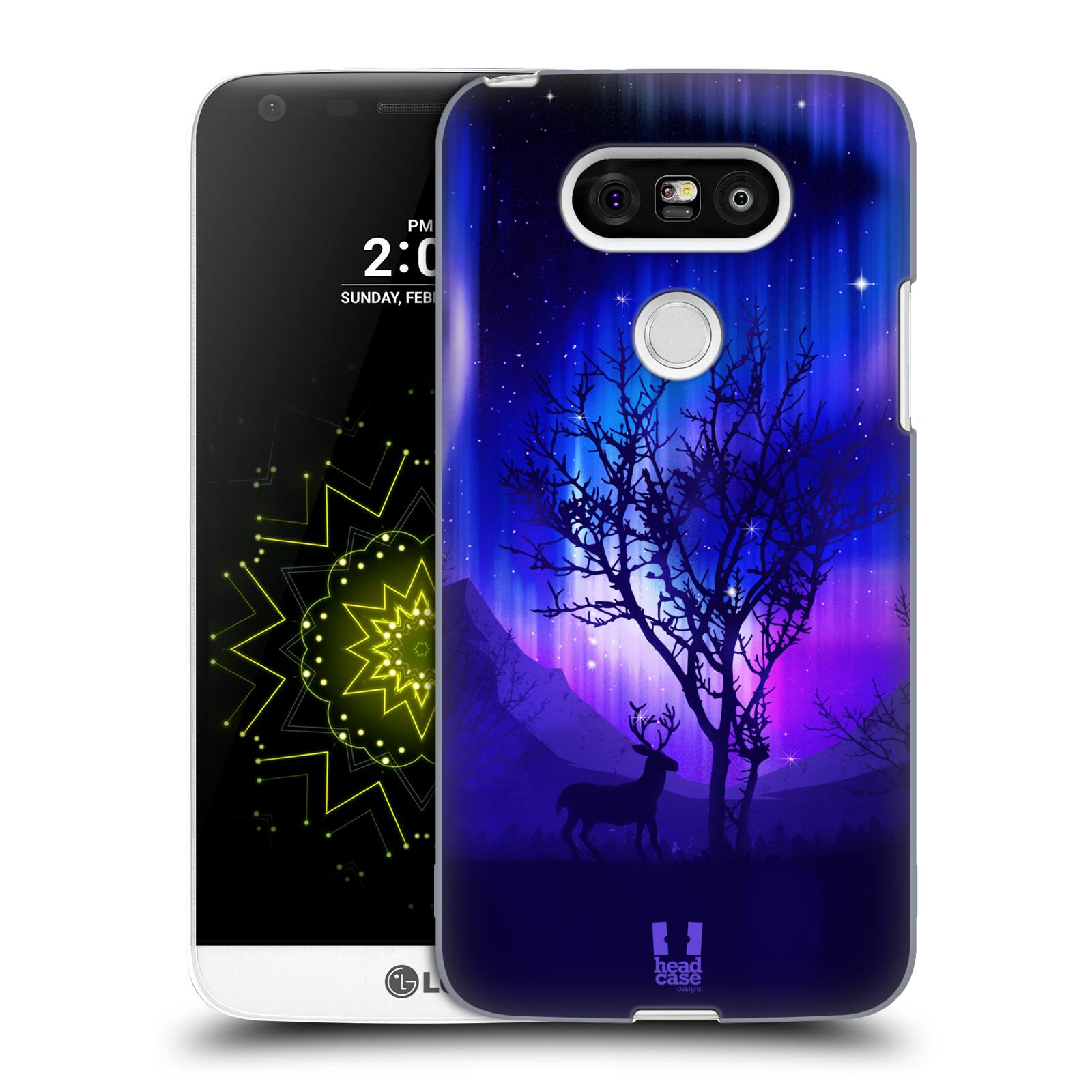 Plastové pouzdro na mobil LG G5 HEAD CASE POLÁRNÍ ZÁŘE STROM