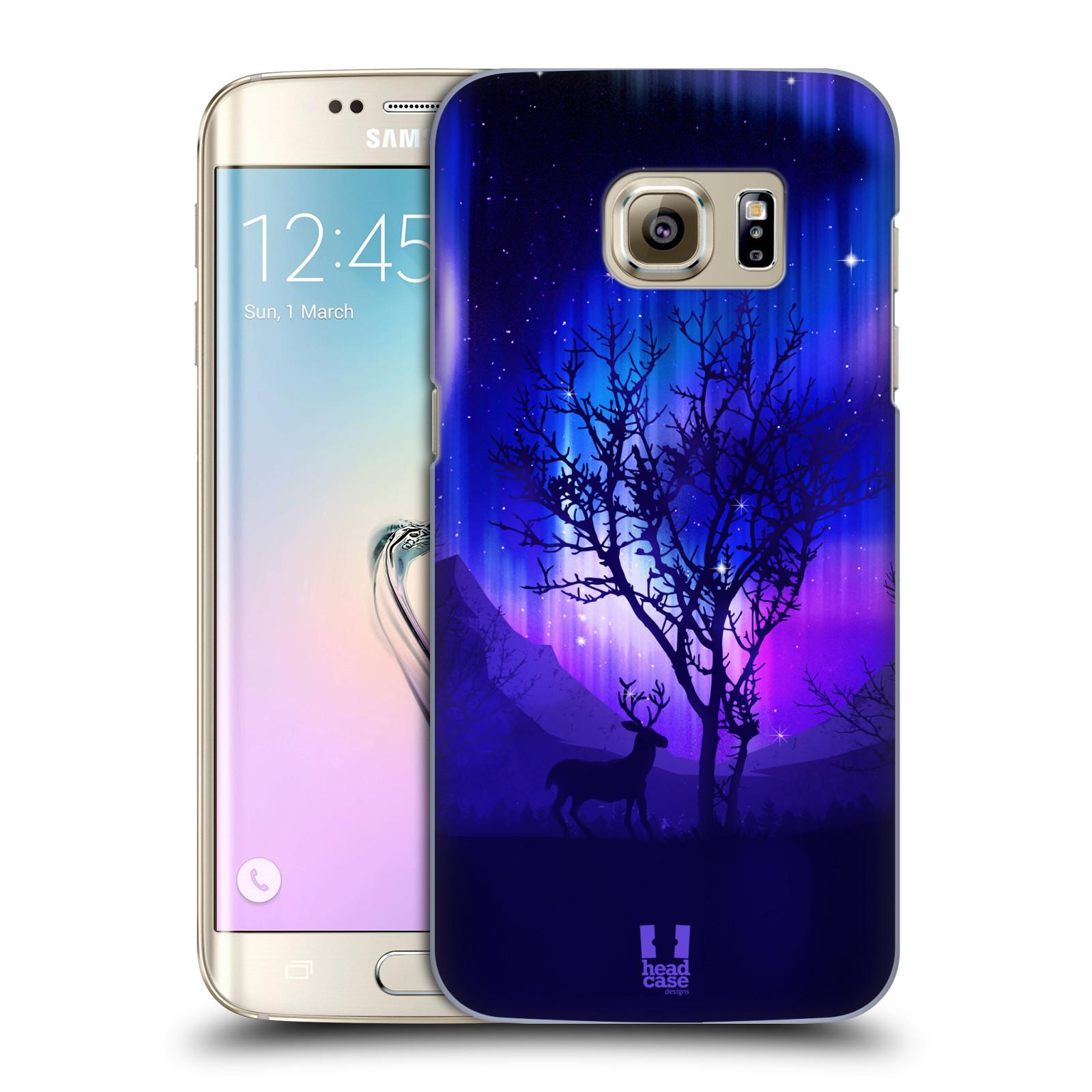 Plastové pouzdro na mobil Samsung Galaxy S7 Edge HEAD CASE POLÁRNÍ ZÁŘE STROM (Kryt či obal na mobilní telefon Samsung Galaxy S7 Edge SM-G935F)